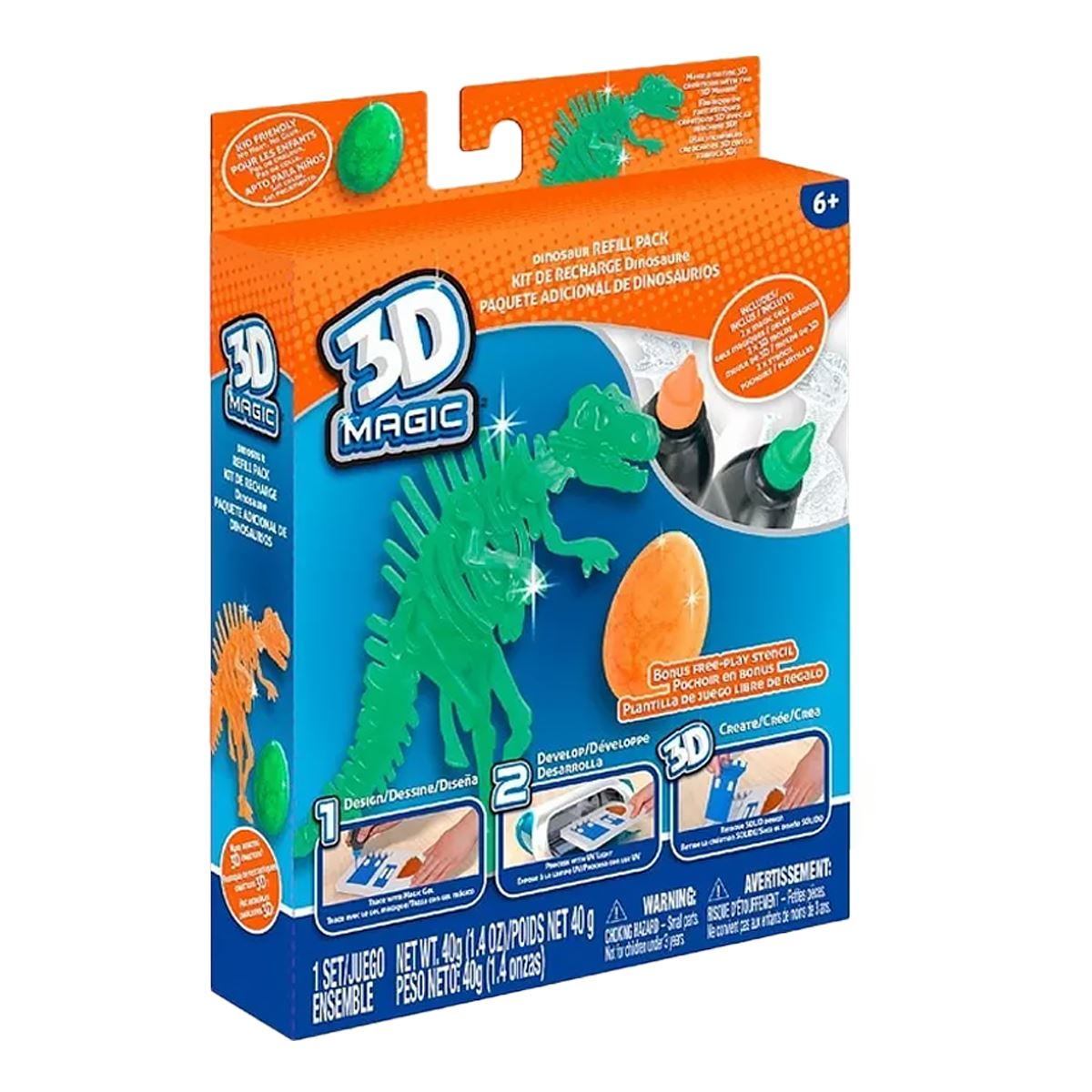 Molds /& Stencils Tech4Kids 3D Magic Building Activity Pack Includes Gels