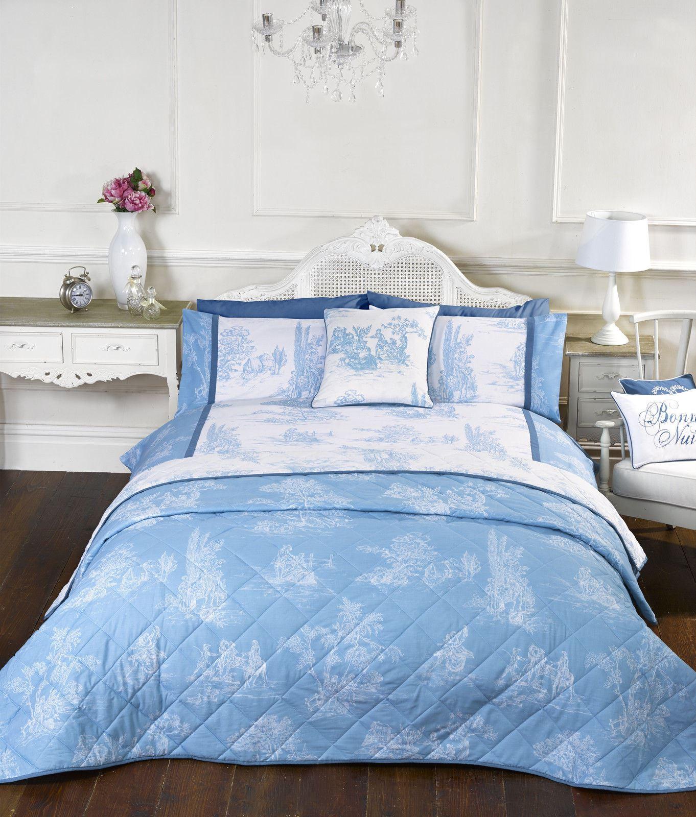 French country toile camargue duvet cover bedding range - Fundas nordicas vintage ...