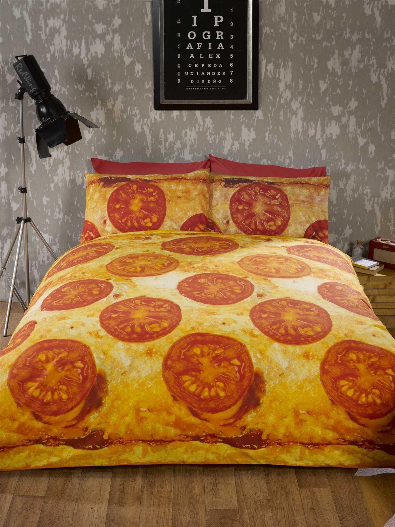 ropa de cama pizza diversin adolescente estudiante ropa de cama edredn diseo de la foto imprimir