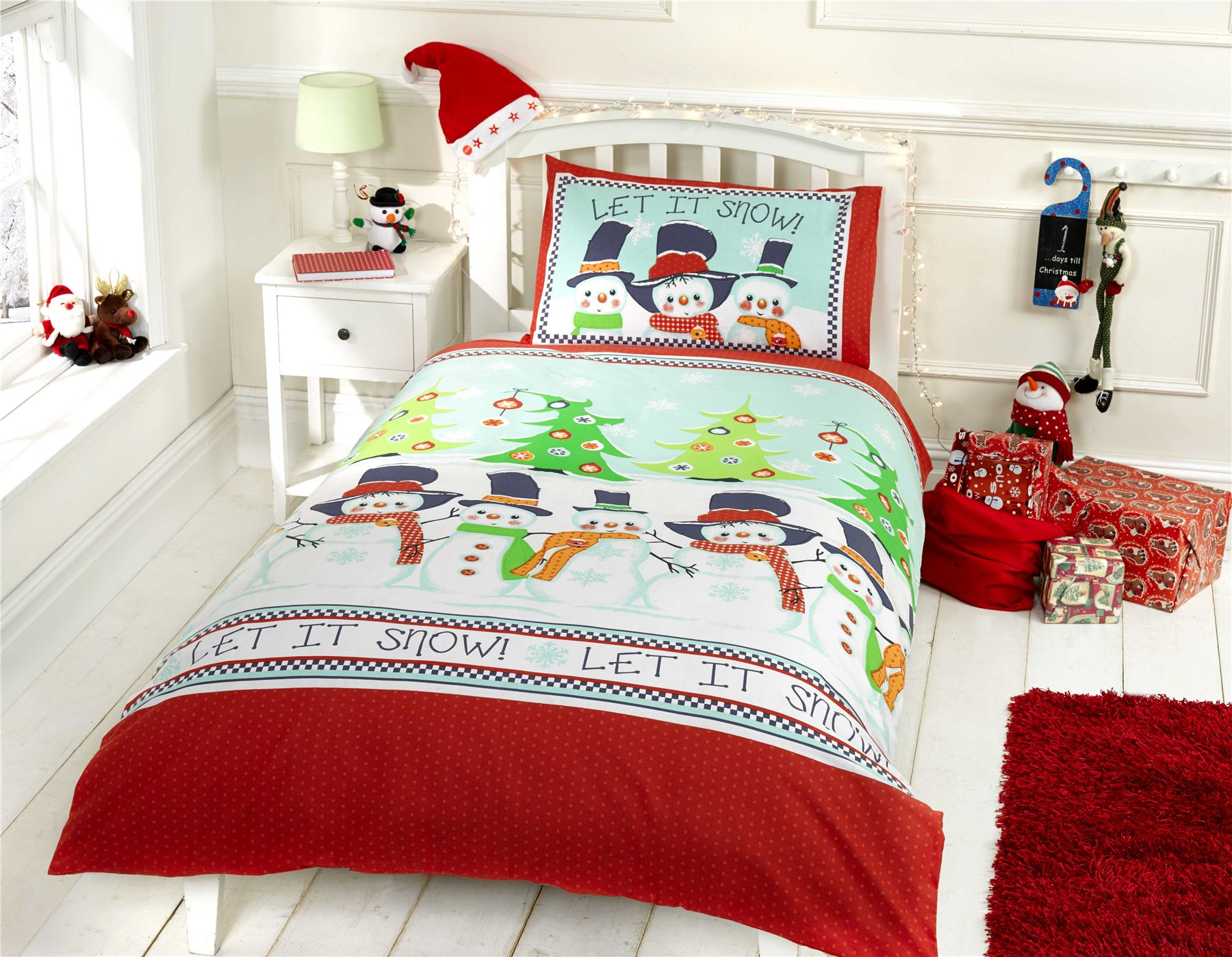Kids christmas bedding duvet cover bright colourful - Housse de couette noel ...