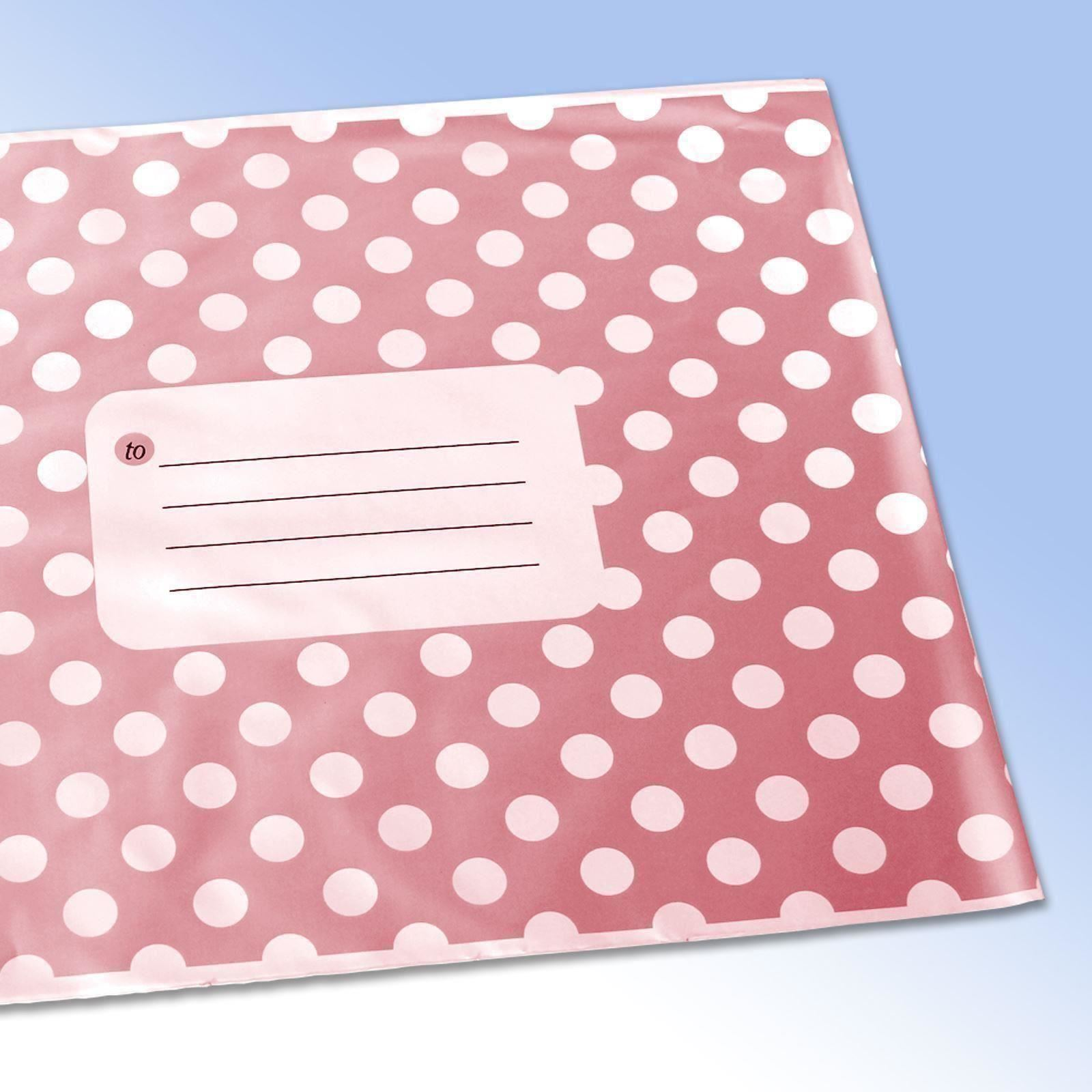 Polka-Dot-Printed-Self-Seal-Plastic-Mailing-Bags-Assorted-Colours-and-Sizes