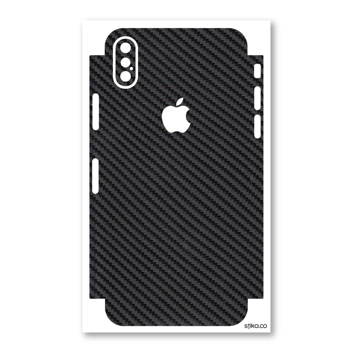 best sneakers a3cef 81aeb Details about Textured Carbon Vinyl Phone Protection wrap skin sticker for  Apple iPhone X, 10