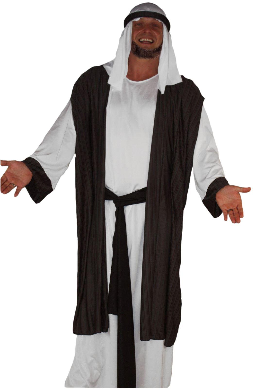 adults deluxe grey arab wise man costume christmas nativity shiek