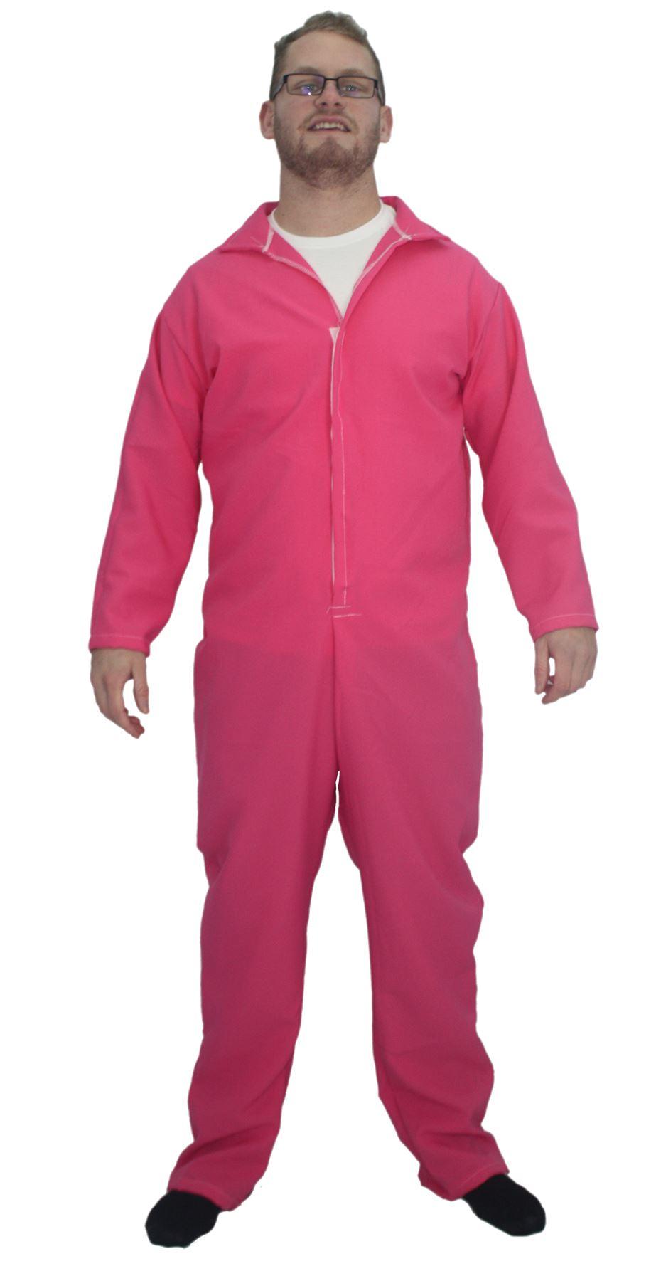 ce4b9adcf4 Adults Pink Plain Overalls Mechanic Boilersuit Fancy Dress