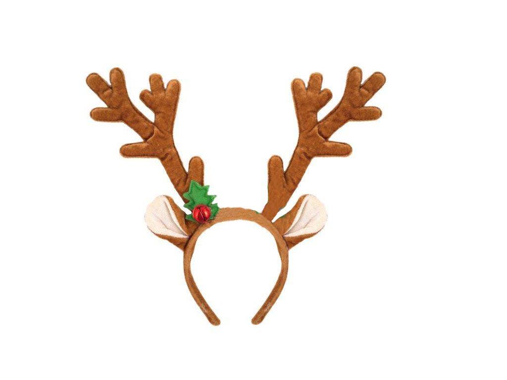 Christmas Headband For Adults.Details About Brown Festive Christmas Rudolph Reindeer Antler W Bells Fancy Dress Headband