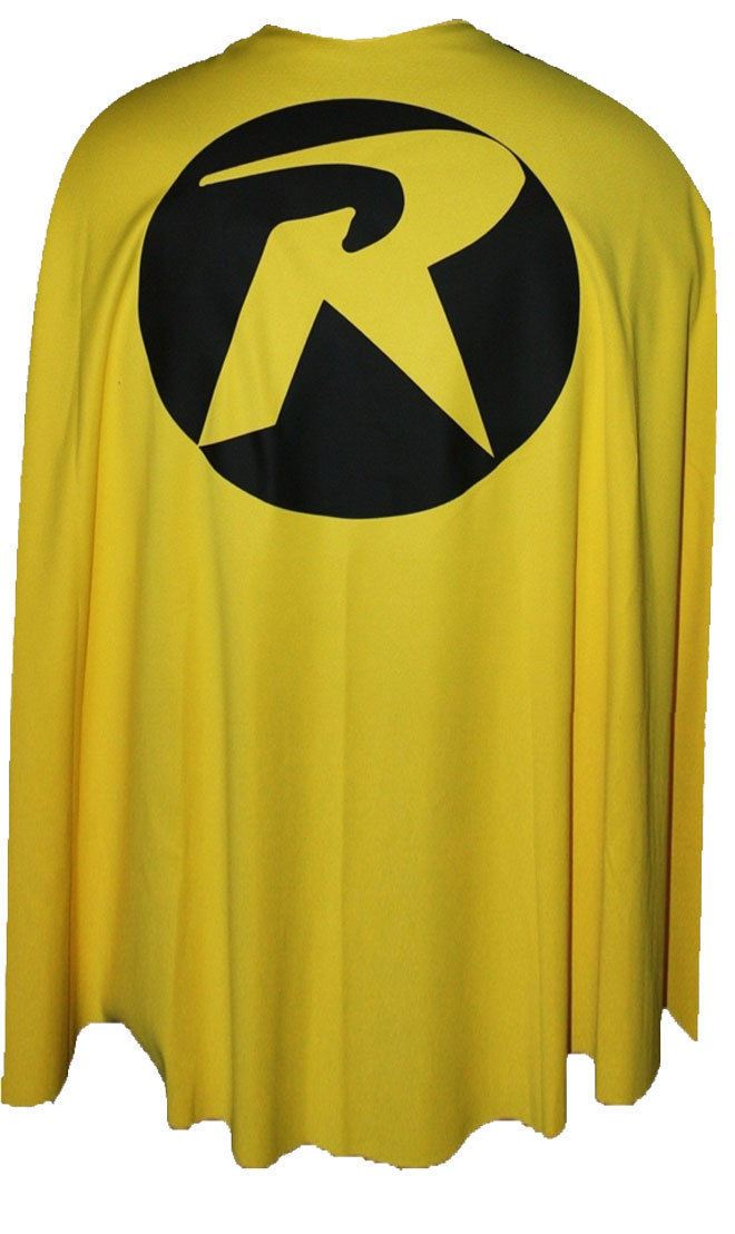 robin printed superheroes cape 3 sizes kids and adults super hero