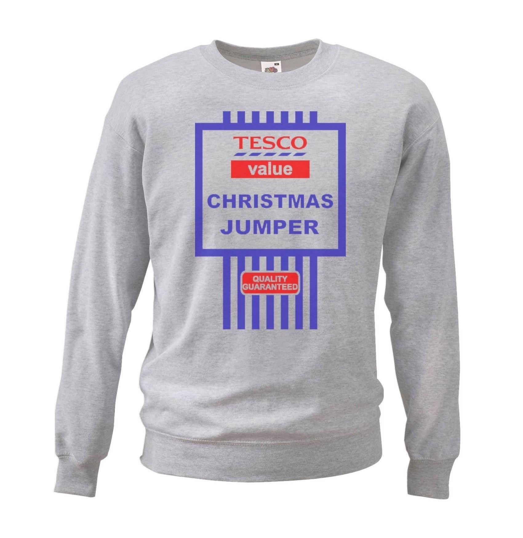 Mens-Light-Grey-Tesco-Value-Halloween-Costume-Printed-Sweatshirt