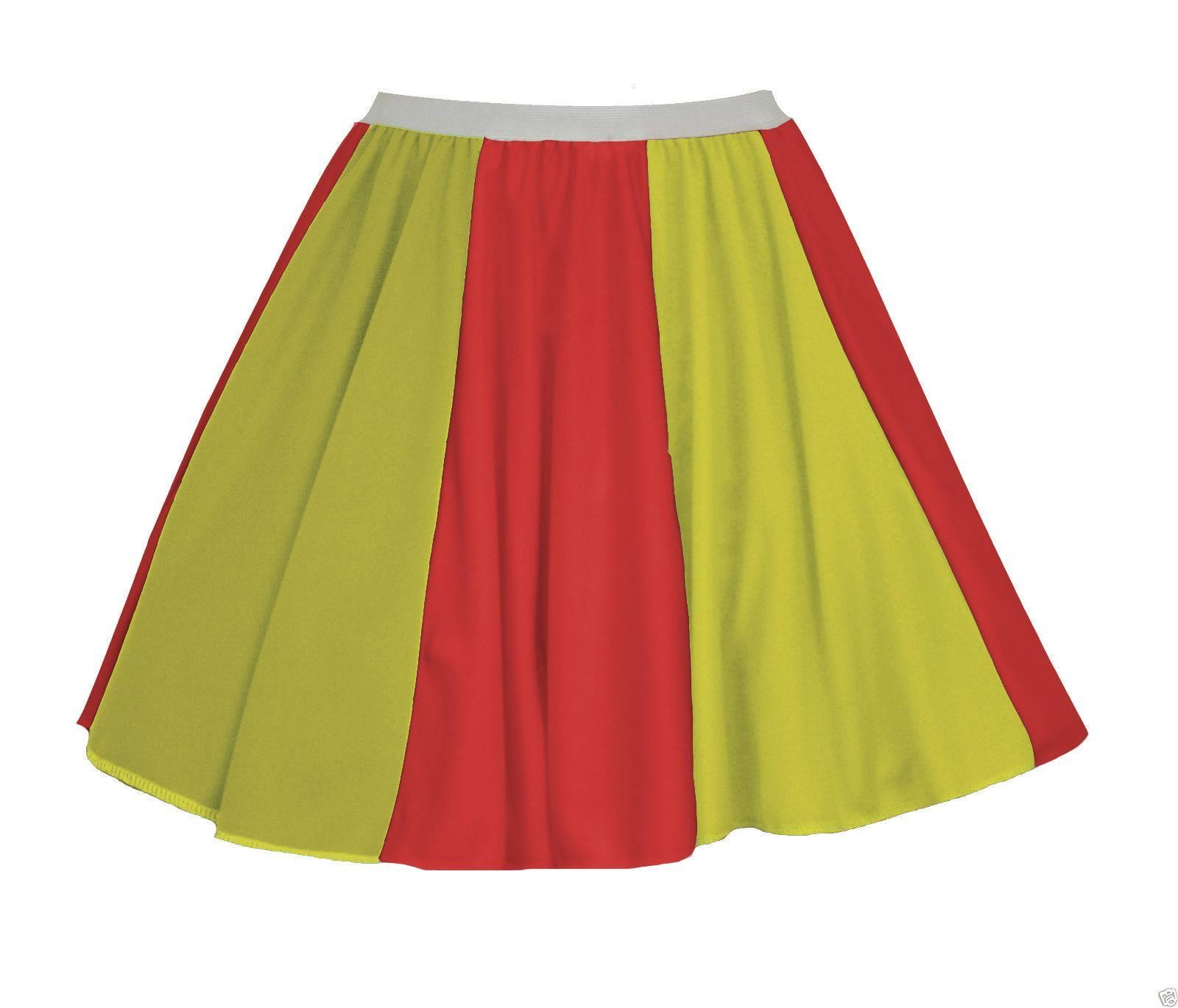 Ladies-BANDIERA-SPAGNOLA-15-034-PANNELLO-Skater-Gonna-SPAGNA-Costume