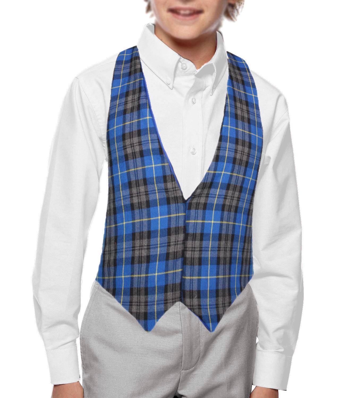 Blue Hunting Tartan Backless Waistcoat Scottish Fancy Dress Accessory