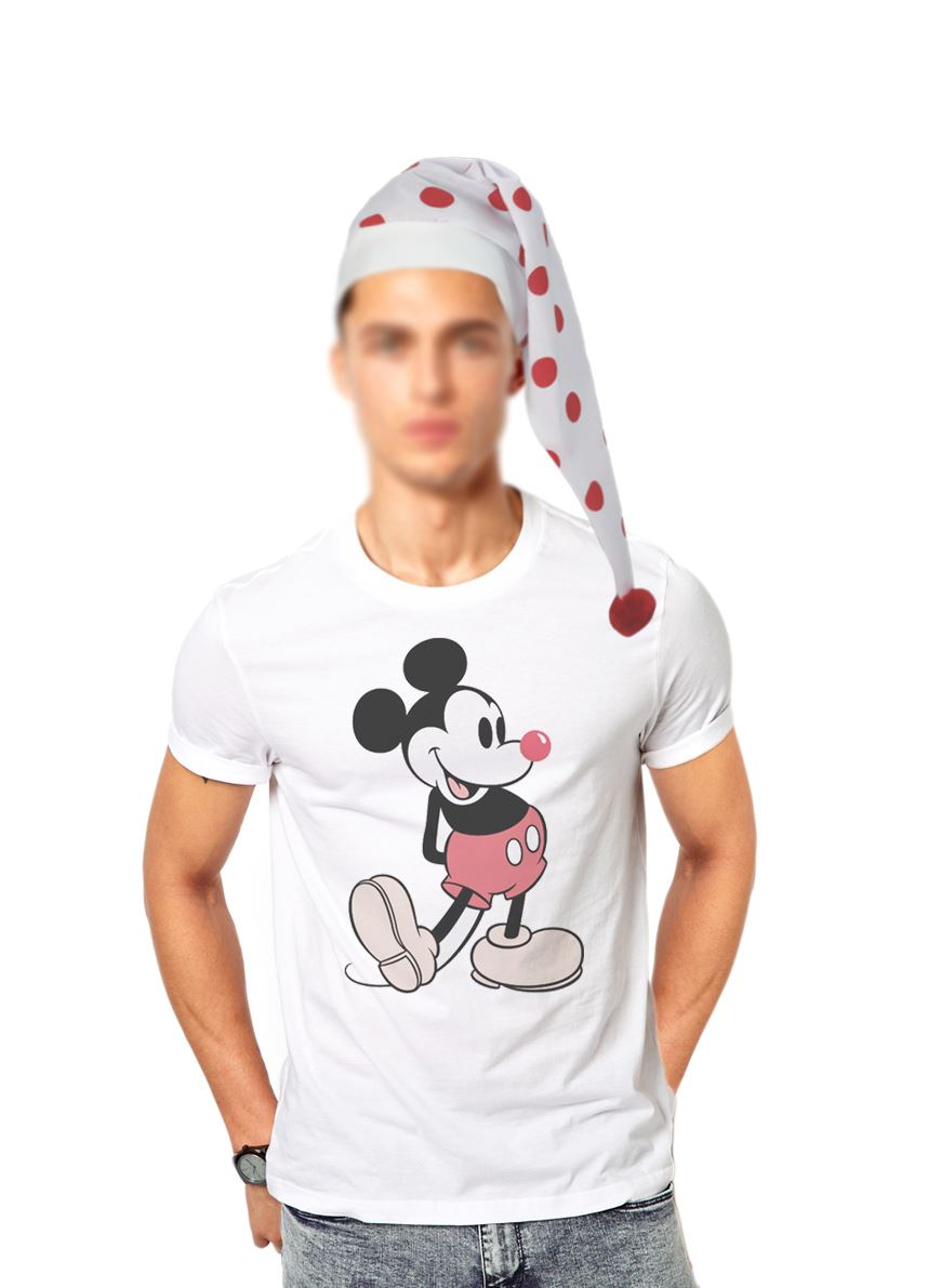 Adults Red Nose Day Polka Dot Story Teller Wee Willy Winky Hat Fancy Dress