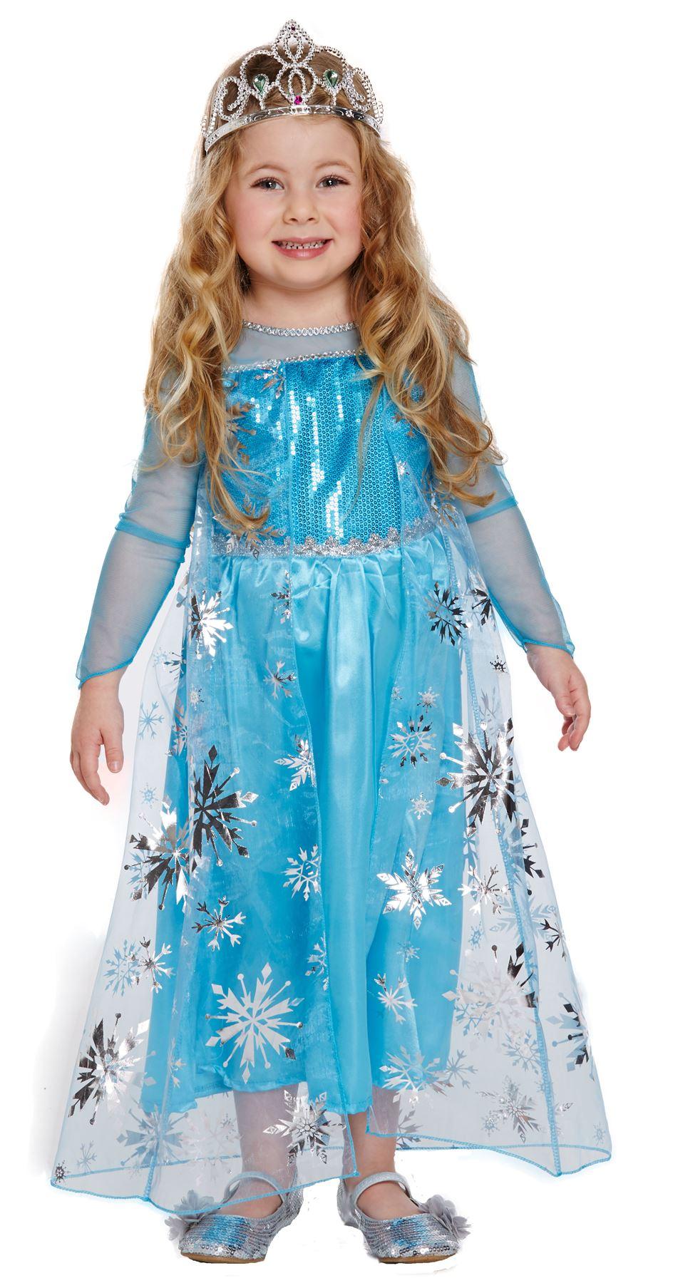 Childrens Frozen Ice Snow Queen Girls Fancy Dress Costume 3yrs ...