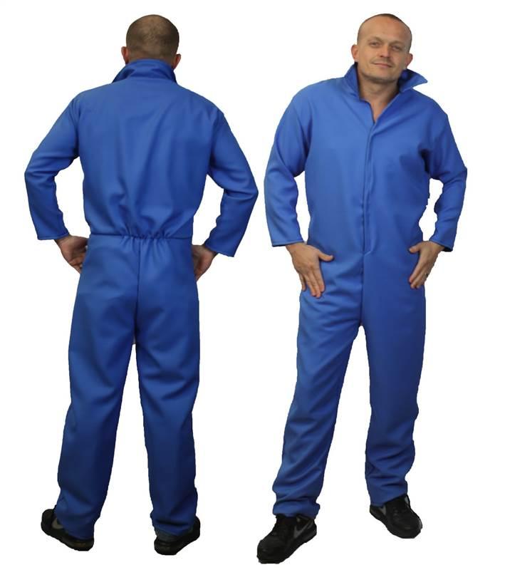 Halloween Fancy Dress Blue Chaudière Costume Fancy Dress Costume Vêtement de Myers adultes