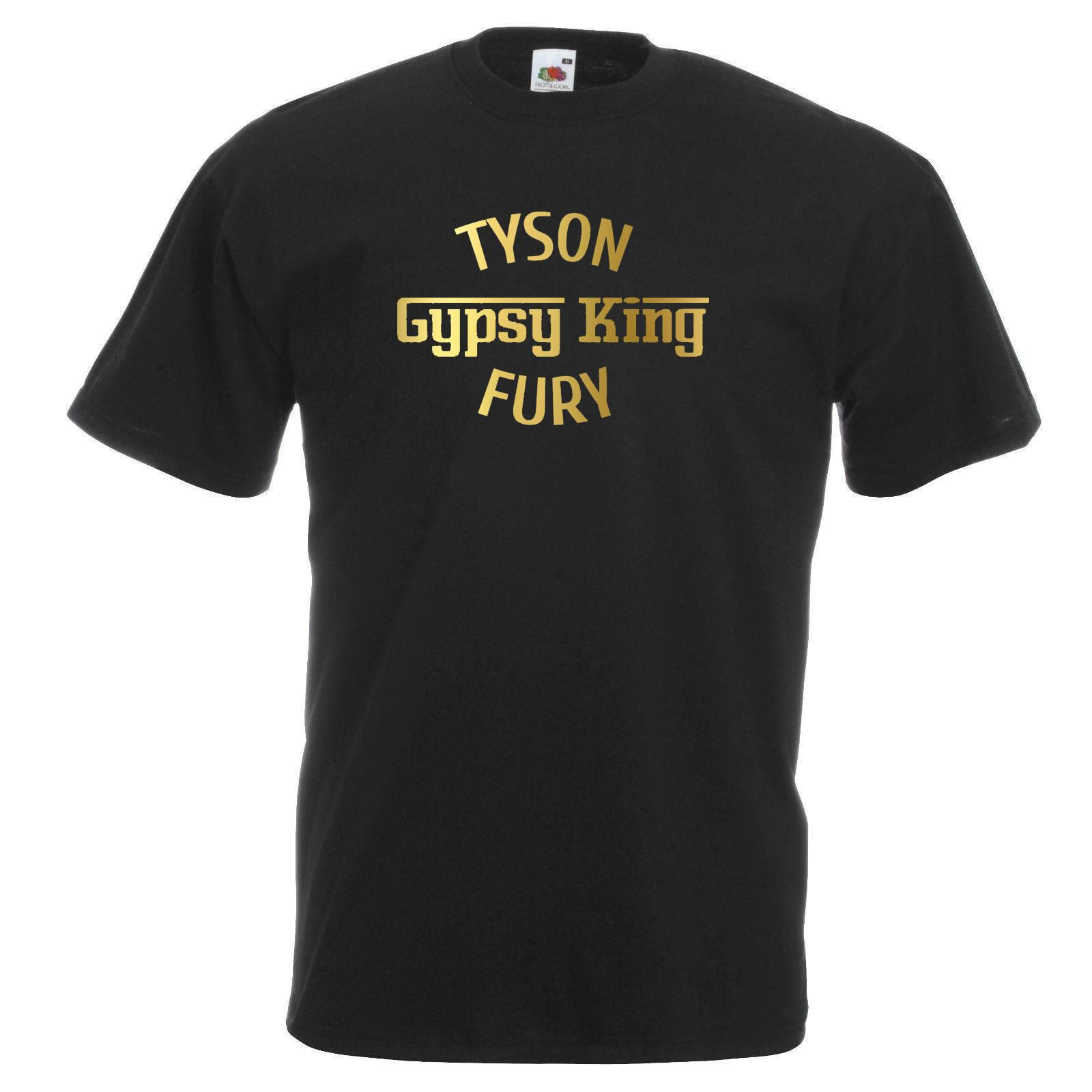 4ba880ebacc Details about Unisex Black Tyson Fury Gypsy King T-Shirt Shirt Boxing