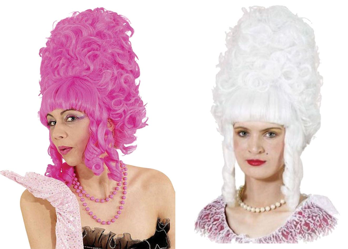 Details about Womens 18th Century Panto Dame Ugly Sisters Pompadour Fancy  Dress Beehive Wigs 5ac11fe546