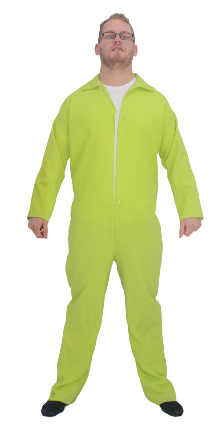 b46faae238 Adults Neon Yellow Plain Overalls Mechanic Boilersuit Fancy Dress