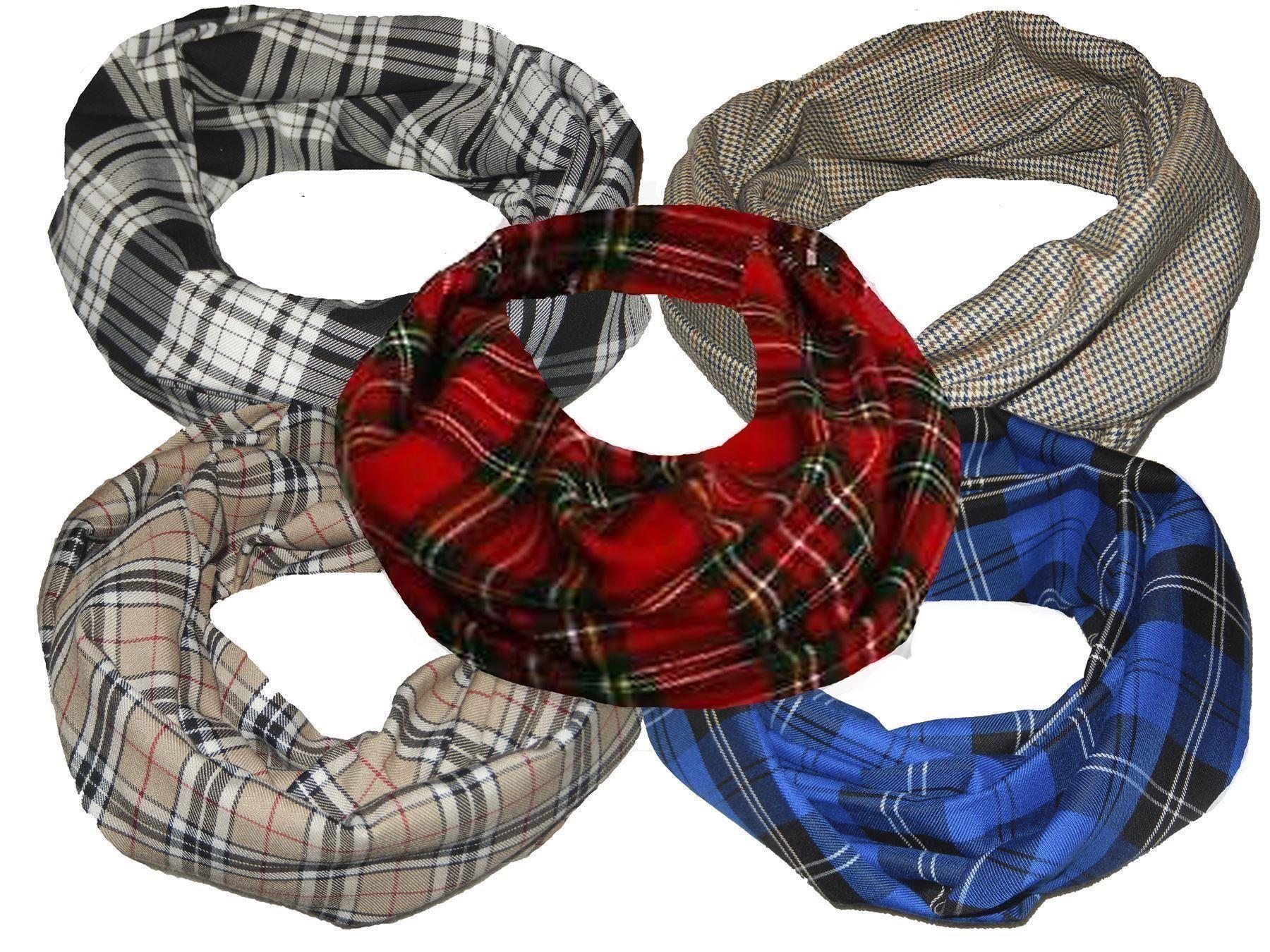 Burns Night Scottish Gentleman Tweed Tartan Warm Neck Scarf Snood