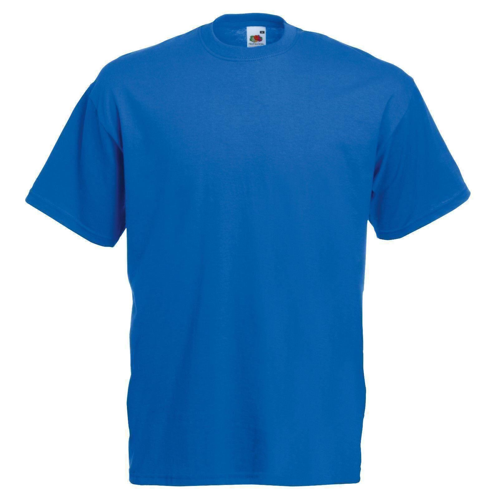Royal Blue Fruit Of The Loom Mens Soft Spun T Shirt Plain