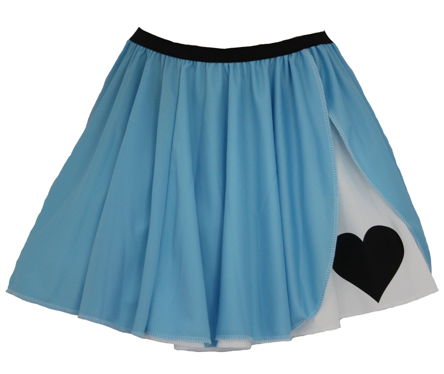 059a7ccf1d Ladies Blue   White Alice in Wonderland Panel Skater Skirt Fancy Dress