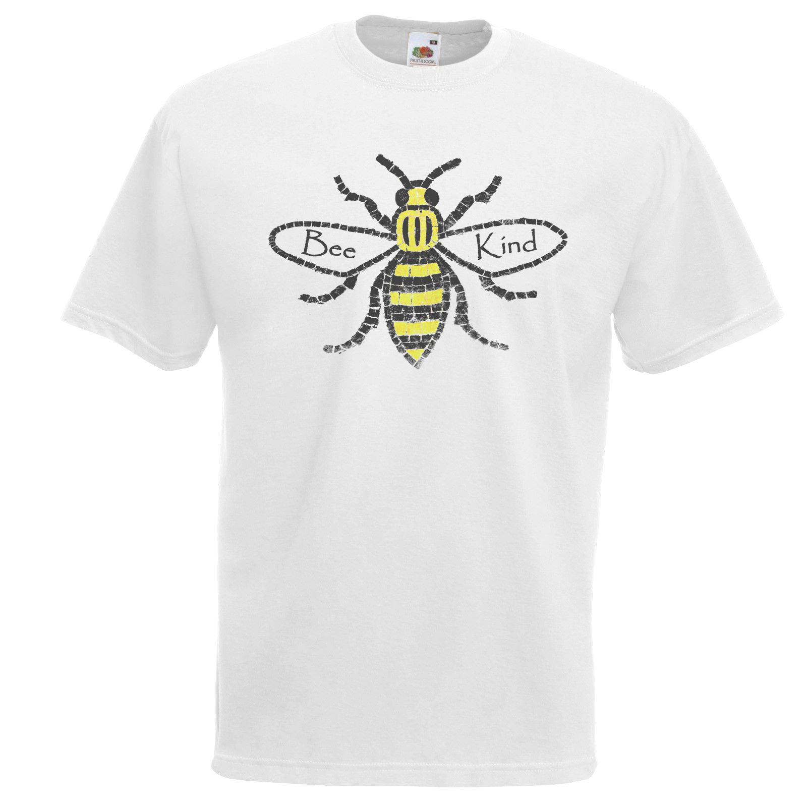 Ladies Black Manchester Worker Bee T-Shirt Shirt Community Save Environment