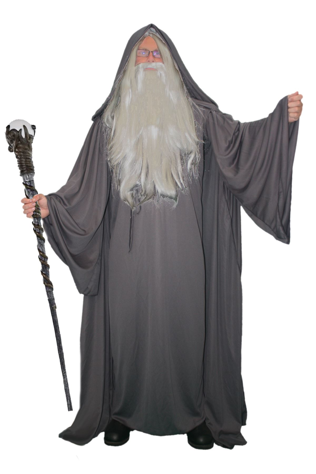 Adults deluxe grey wizard costume sorcerer halloween robe fancy adults deluxe grey wizard costume sorcerer halloween robe fancy dress gb solutioingenieria Gallery