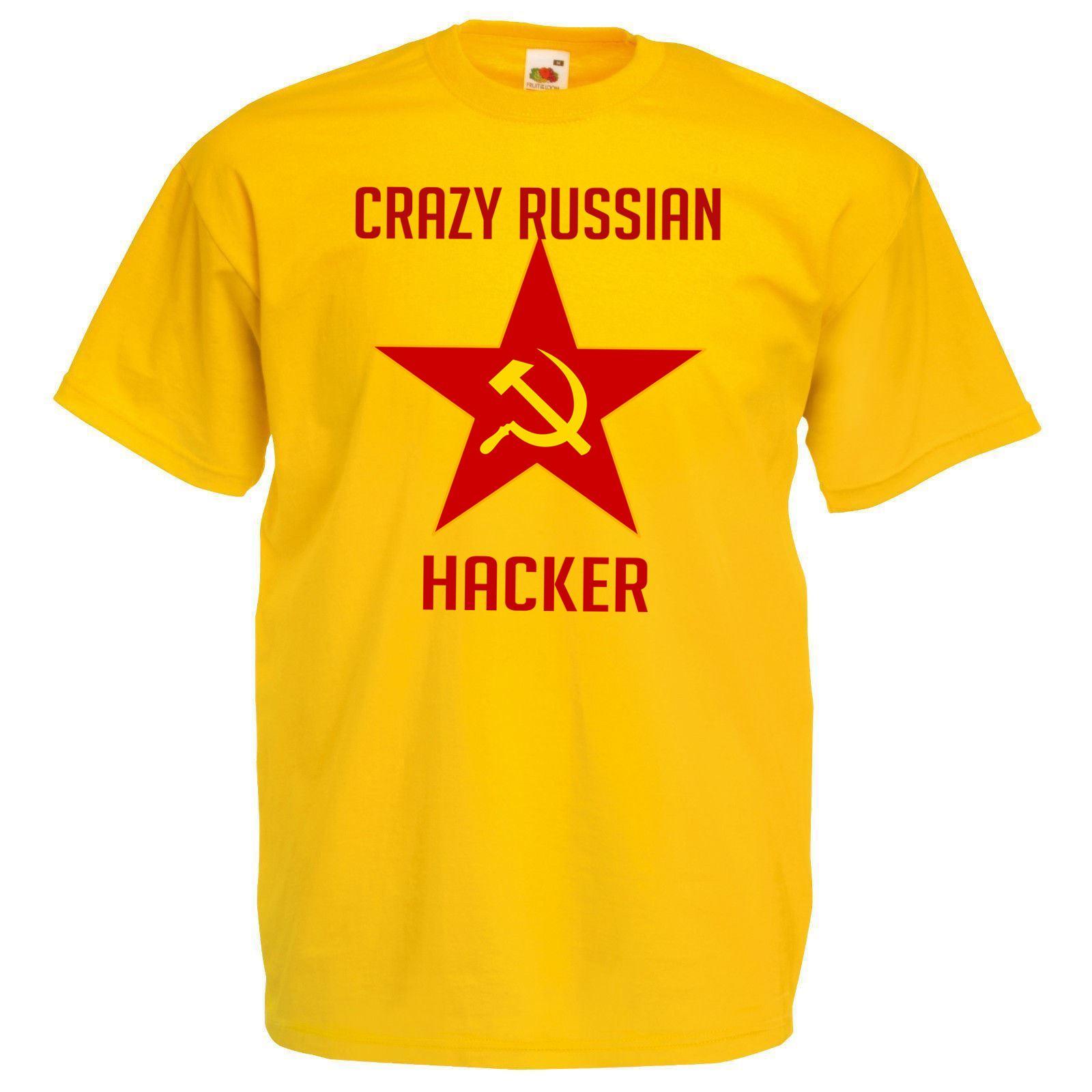 41b796abd1a Details about Mens Yellow Crazy Russian Hacker CyberPunk T-Shirt Hacktivist  Anonymous