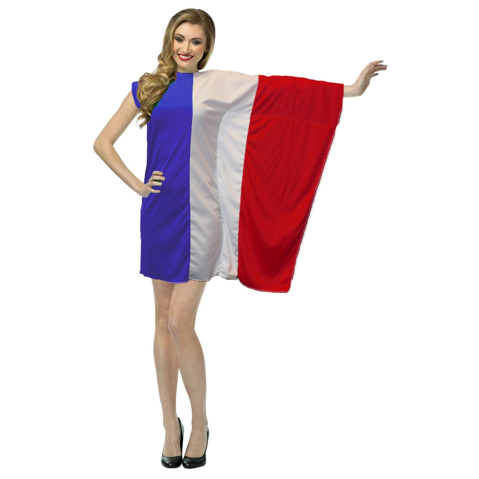 White apron fancy dress - Ladies French Flag Fancy Dress St Denis Day France Costume
