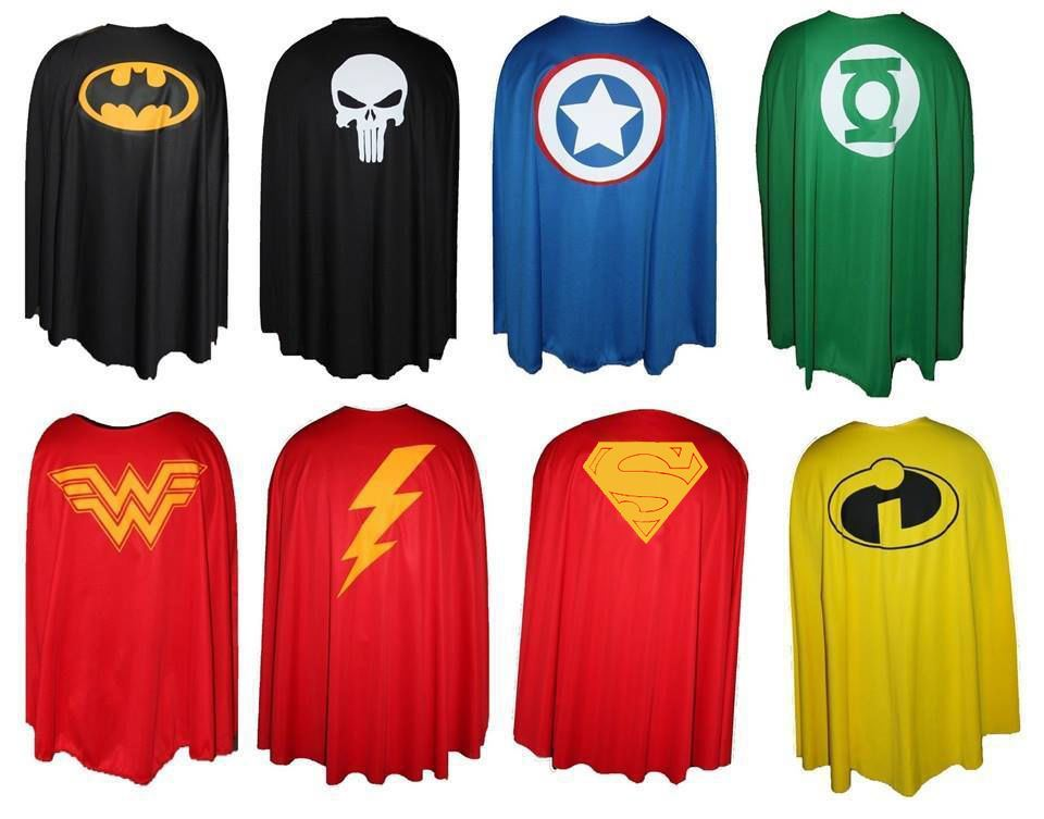 printed superheroes cape 3 sizes kids and adults super hero capes ebay
