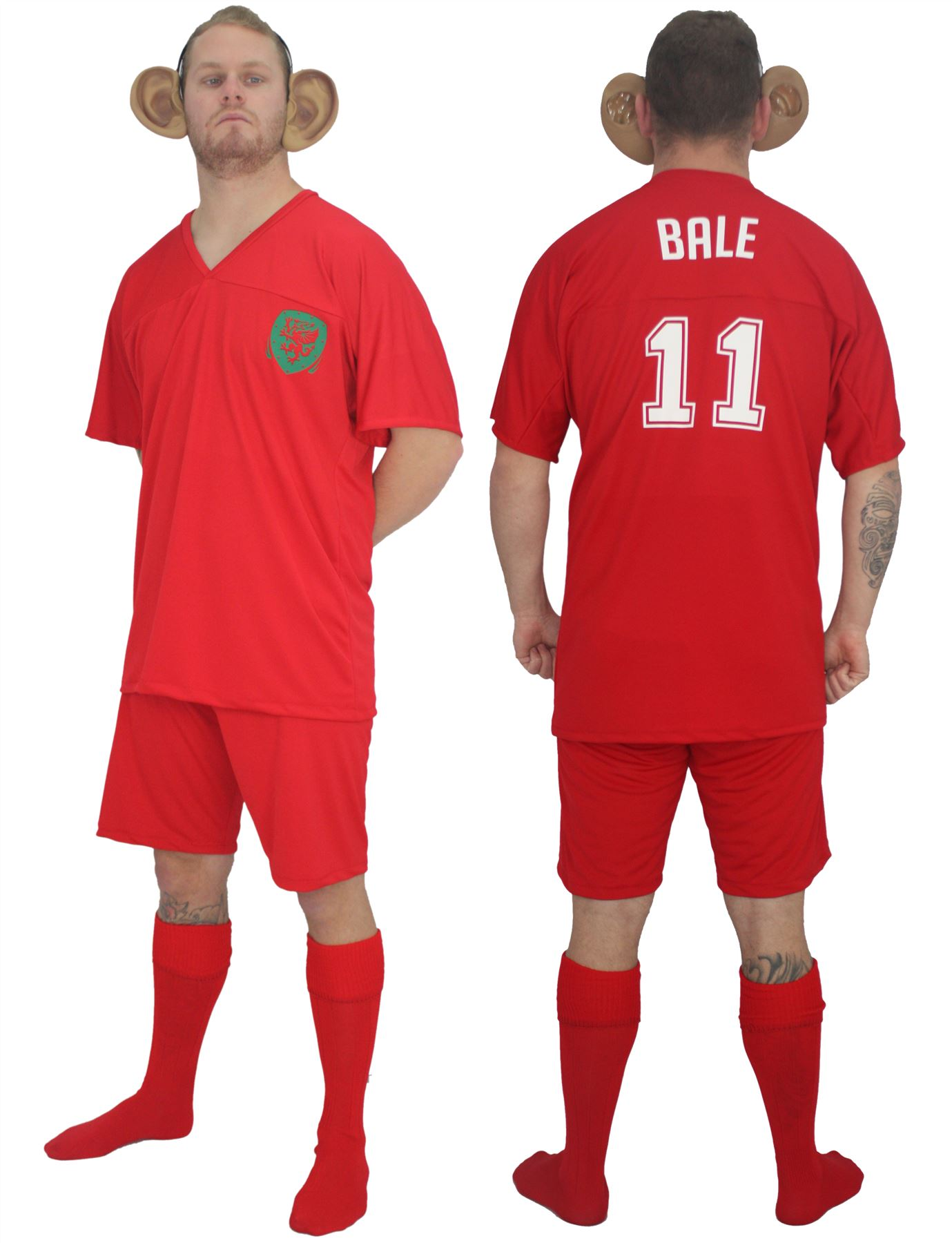 info for 3497c 4e7a0 Details about Adults Welsh Football Icon Gareth Bale Kit Fancy Dress & Big  Ears