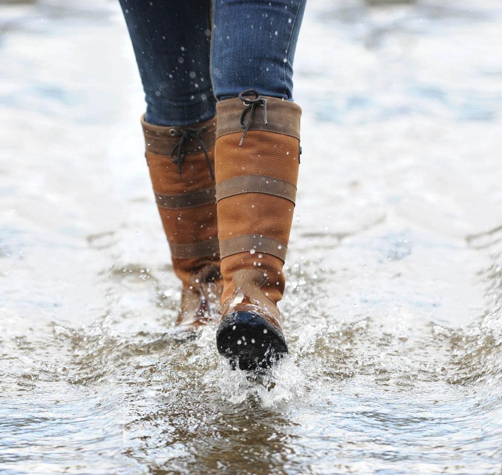 Dublin-River-Stivali-Impermeabili-Equitazione-Passeggio-Pelle-Paese-Stivali-tutte-le-taglie