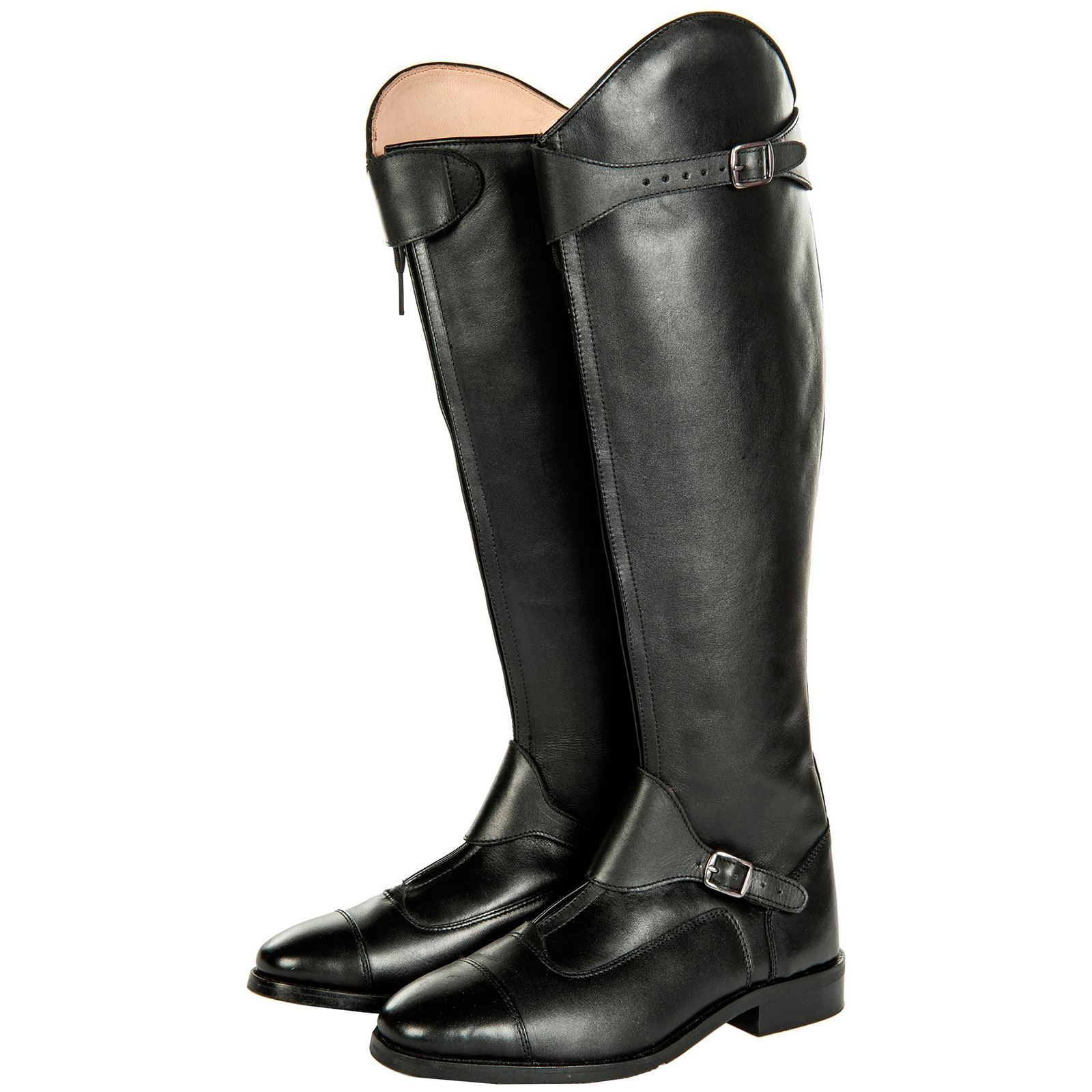 28fa26800 Details about HKM Equestrian Adults Polo Soft Leather Zipper Narrow Long Horse  Riding Boots