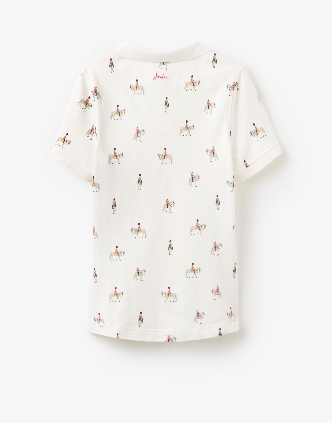 Joules Trinity Polo Shirt Equestrian Fashion Short Sleeve Floral Slim Fit Top
