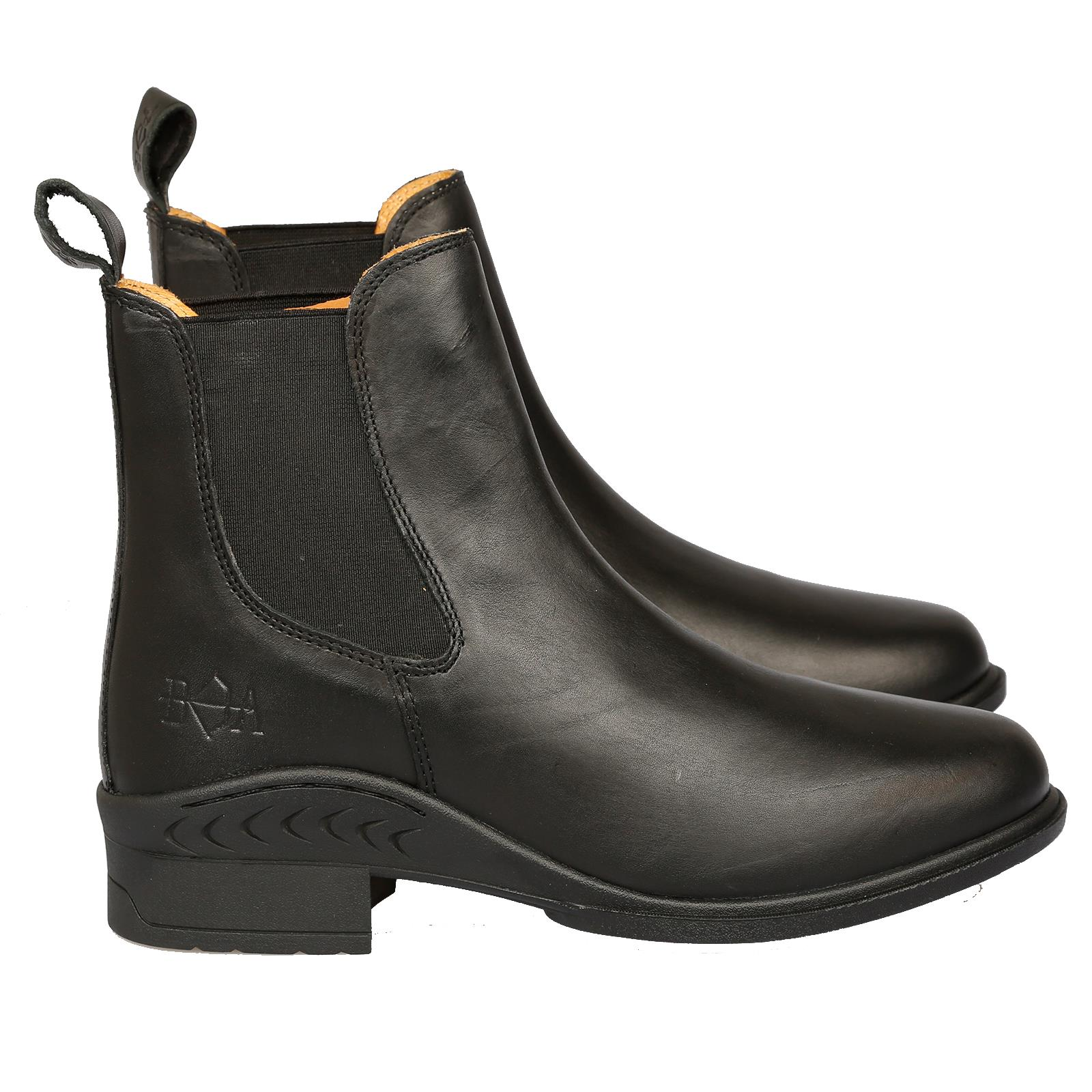 B&A Equestrian Isabella Horse Riding Leather Ladies Pull On Womens Jodhpur Boots