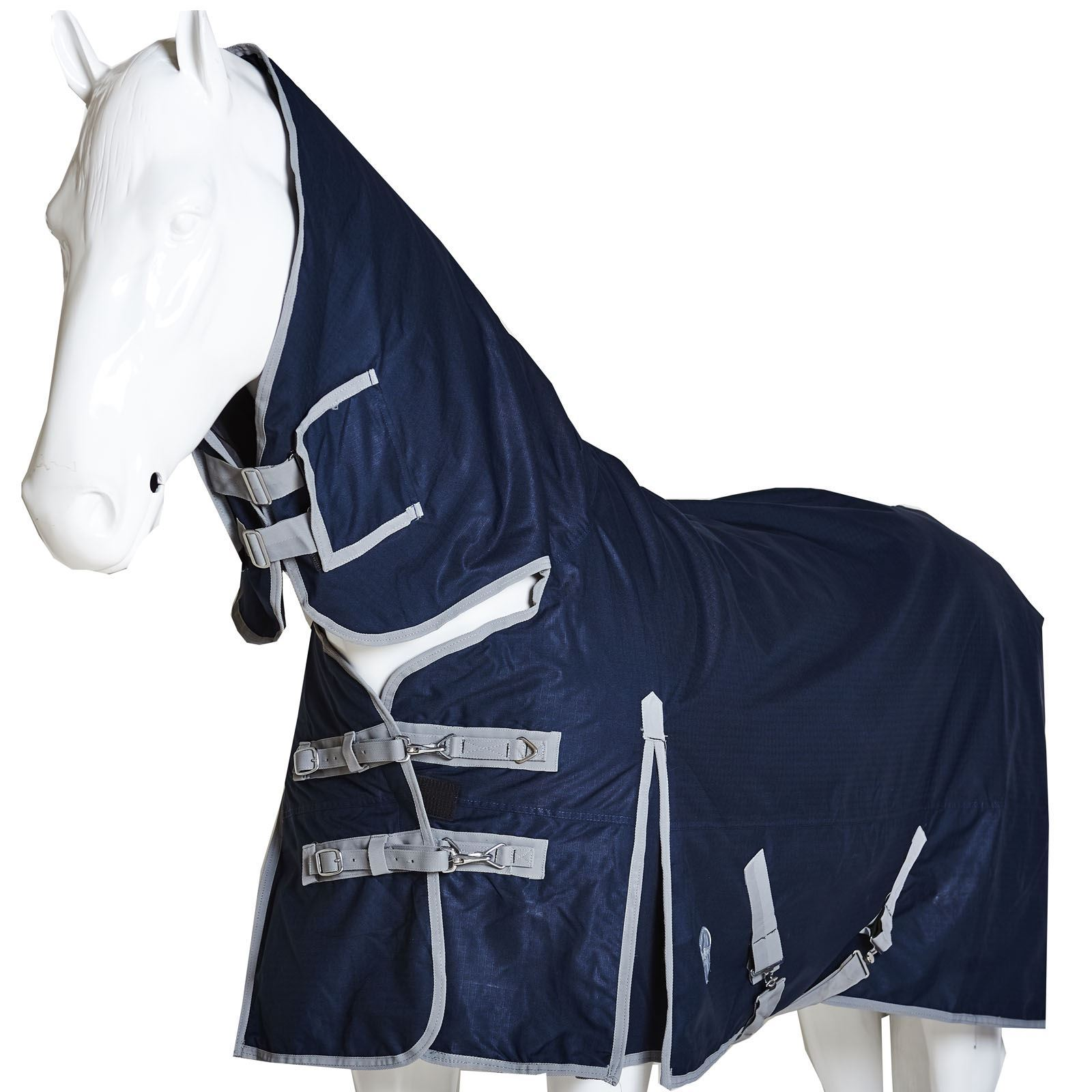 BOH-350g-Heavyweight-600D-Rip-Stop-Full-Fixed-Neck-Waterproof-Winter-Turnout-Rug thumbnail 21
