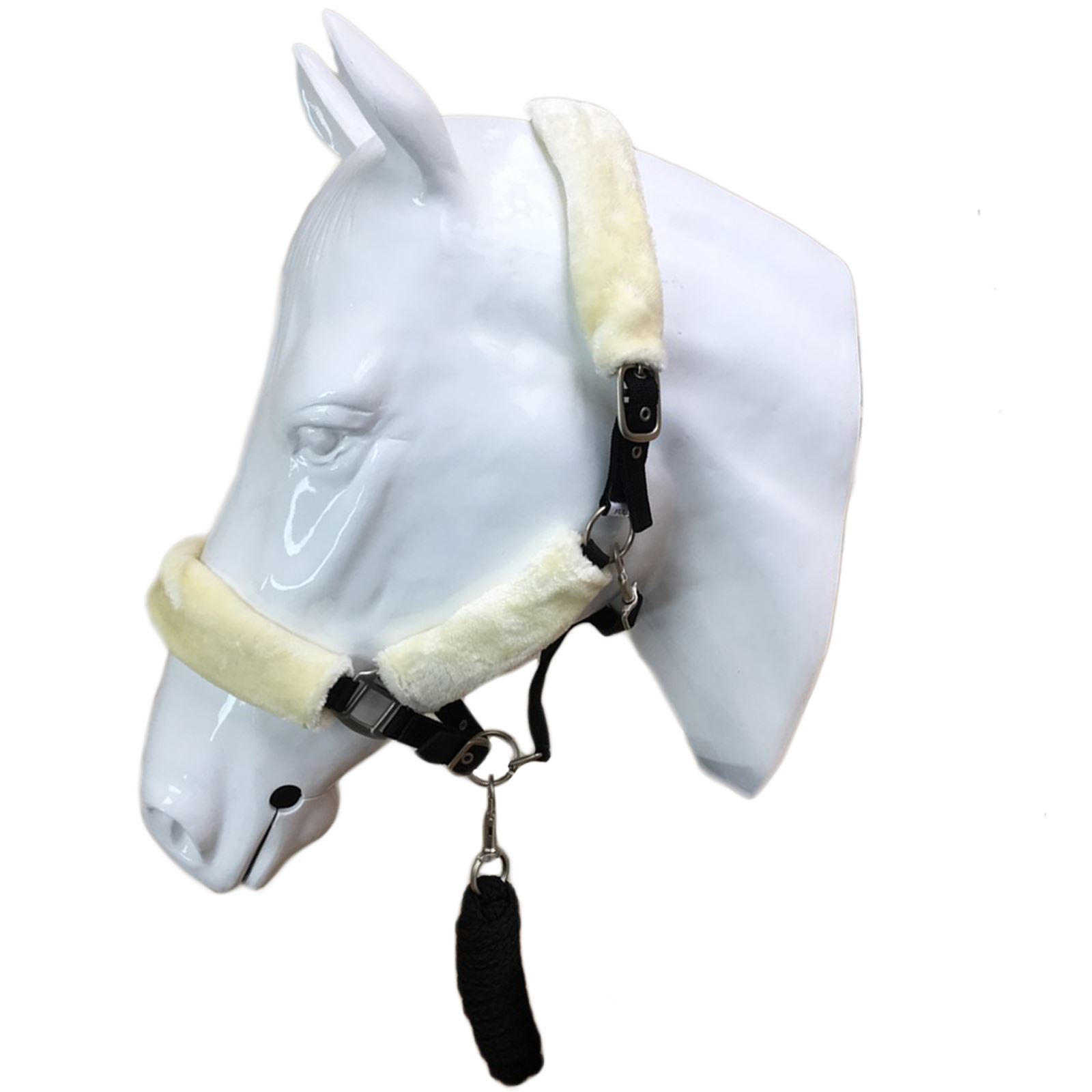 Equestrian Stable Yard Pony Cob Full Soft Leather Headcollar Name Plate