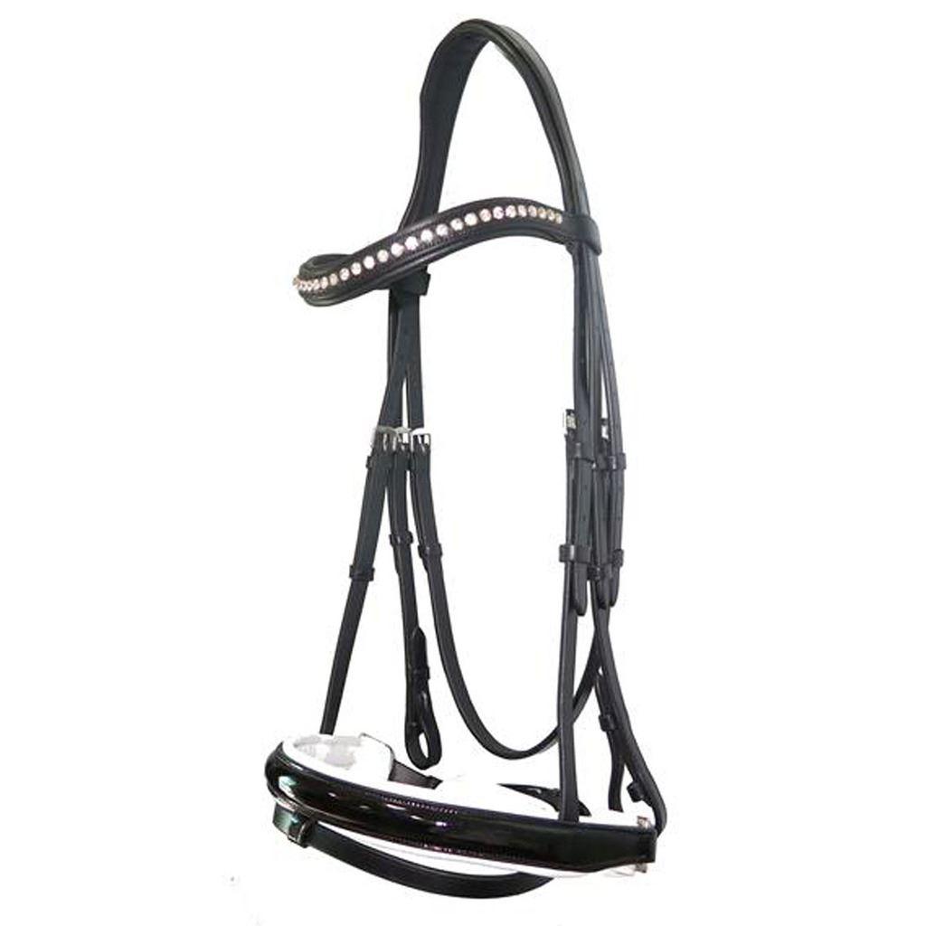 Mountain Horse Gaspari Leder Padded Noseband Browband Stud Dressage Bridle Bridle Dressage a05948
