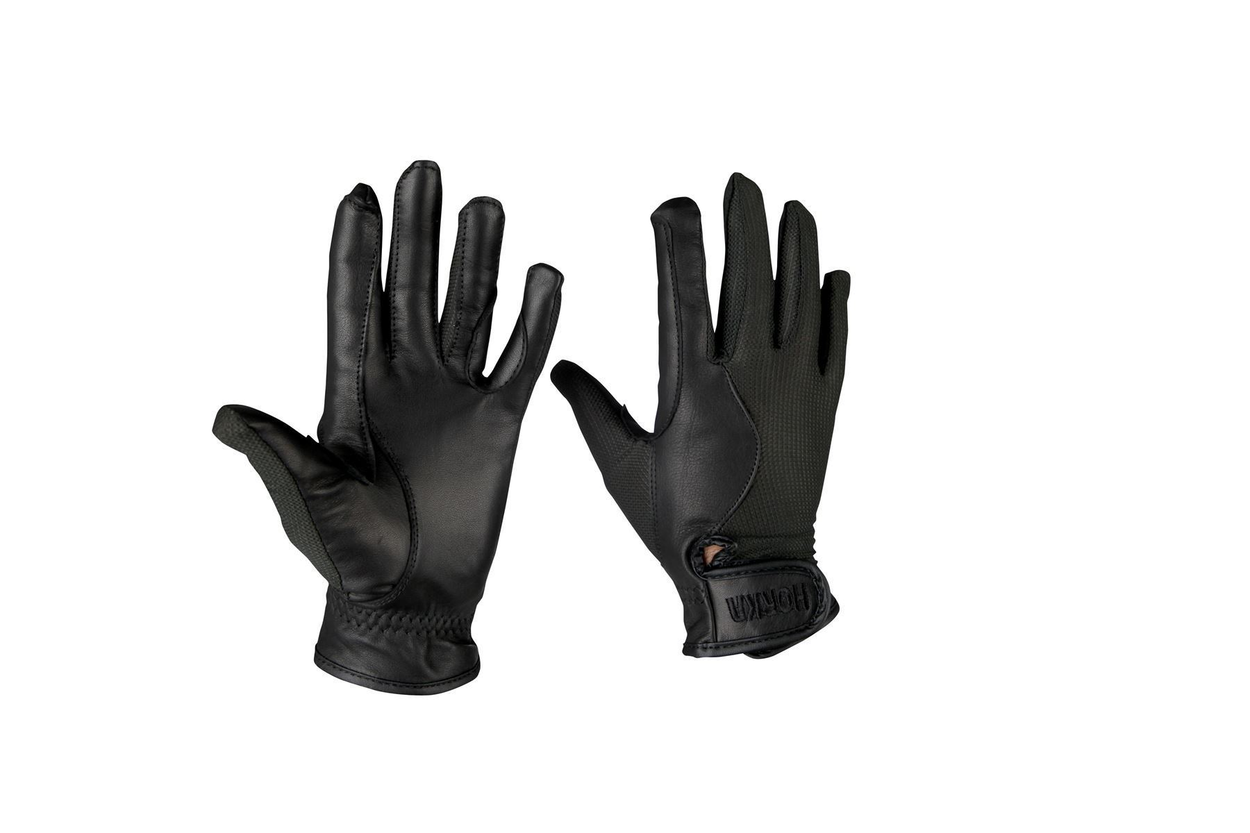 Ladies leather horse riding gloves - Horka Airtech Gloves Men Ladies Leather Horse Riding