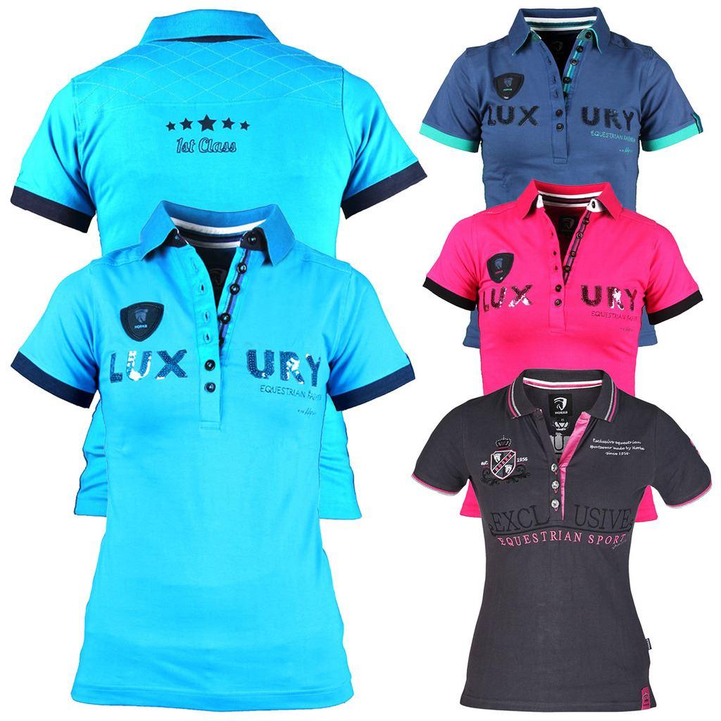 Equestrian Polo Shirts Ladies Bcd Tofu House