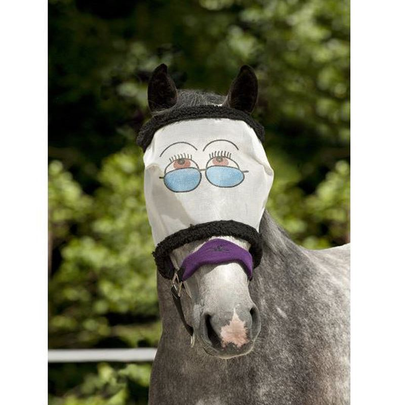 how to put a fly mask on a horse