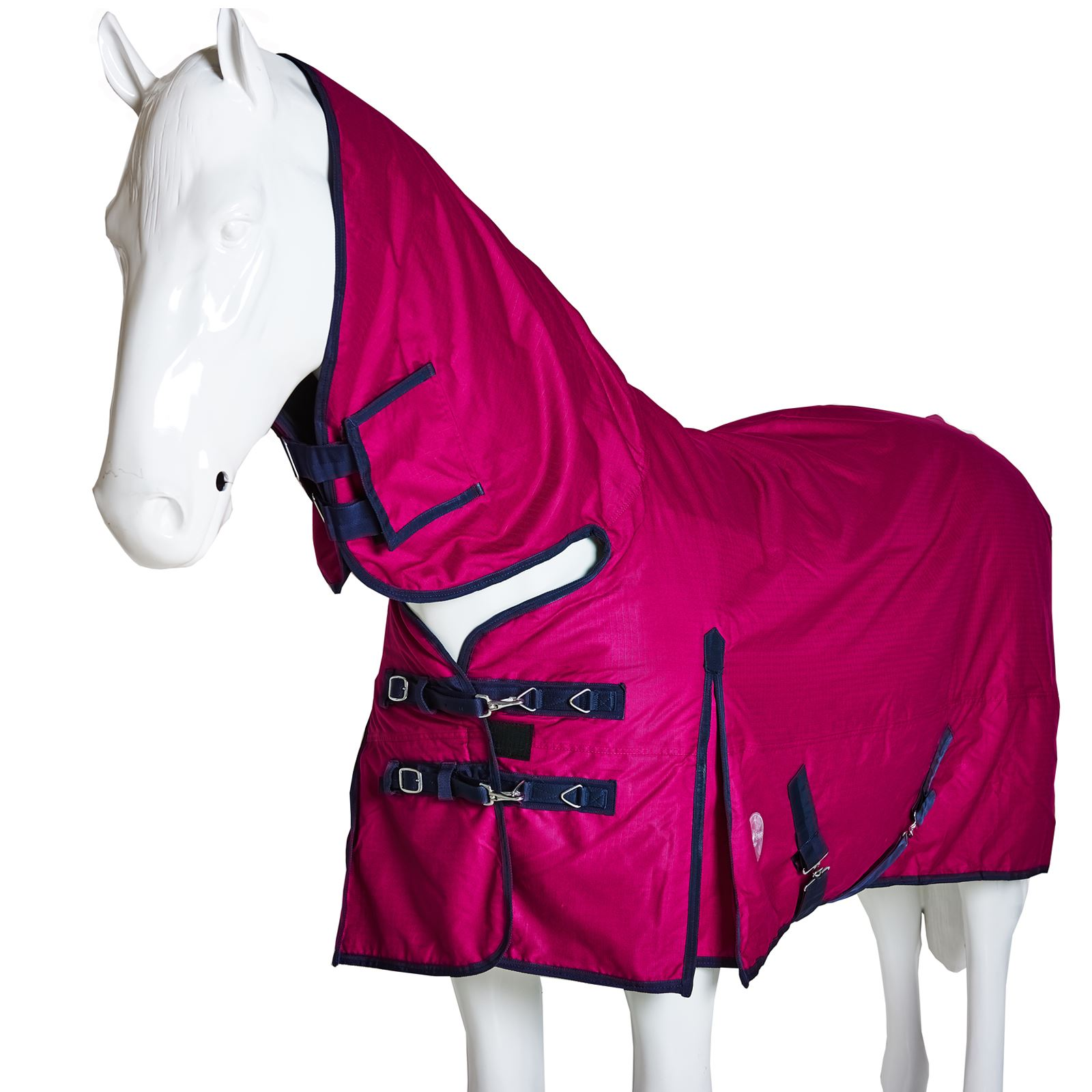 BOH-350g-Heavyweight-600D-Rip-Stop-Full-Fixed-Neck-Waterproof-Winter-Turnout-Rug thumbnail 36