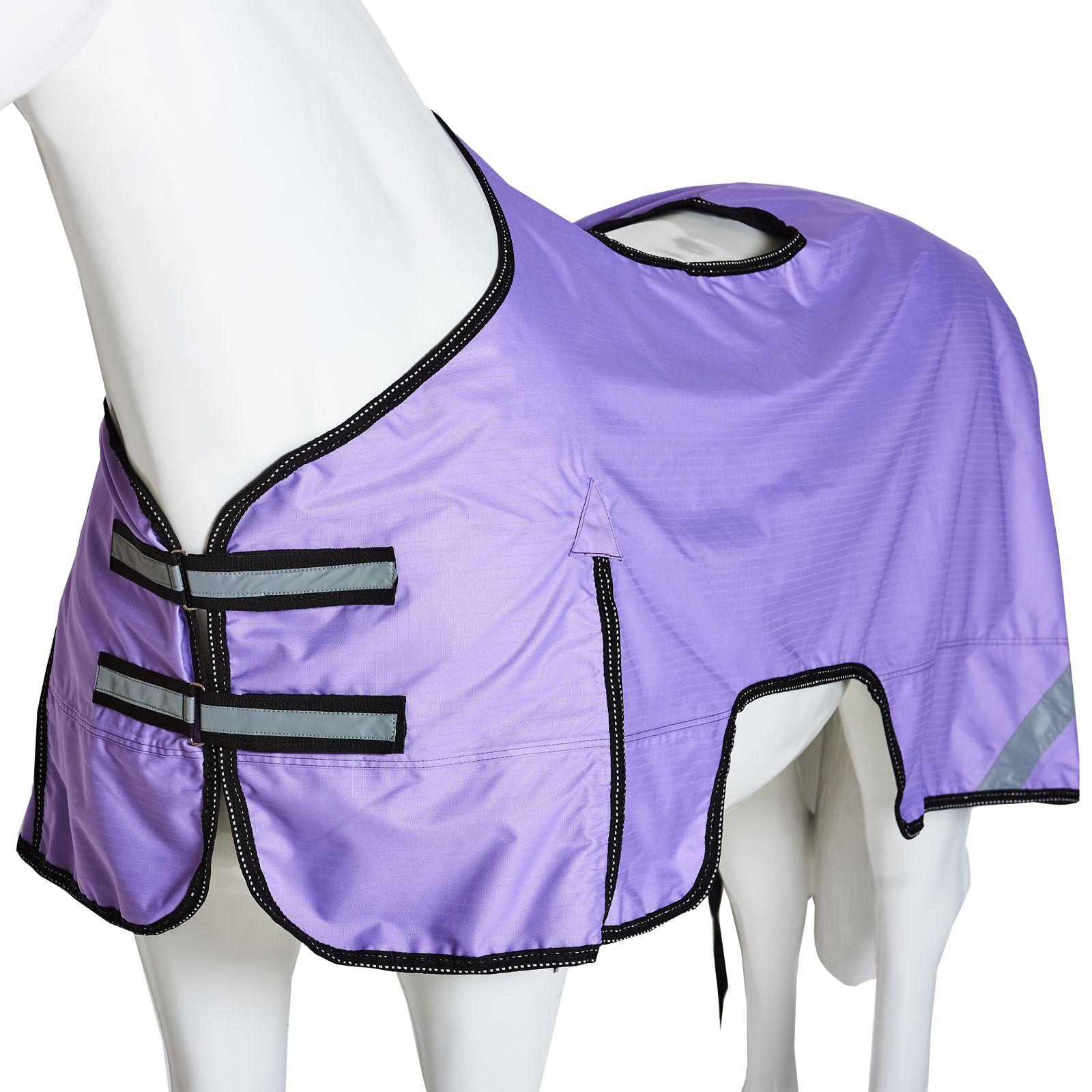 Détails sur Boston poney cheval sur Imperméable Hi Viz Sécurité  Réfléchissant exercice Feuille Tapis- afficher le titre d\'origine