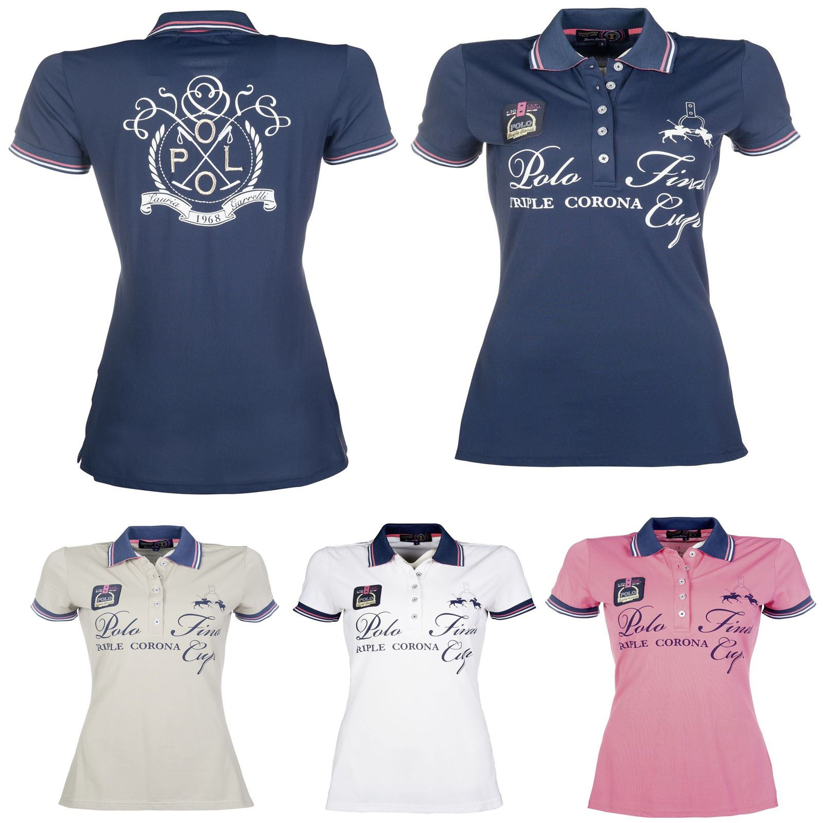 da2ccef3e3a710 Details about Lauria Garrelli Santa Rosa Polo Shirts - Horse Riding  Stretchy Competition Event