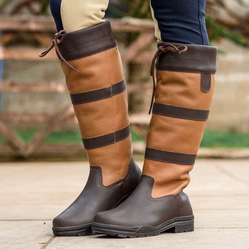 JOY-RIDER-nuovo-resistente-all-039-acqua-Equestre-Equitazione-Country-Walking-Tall-boots