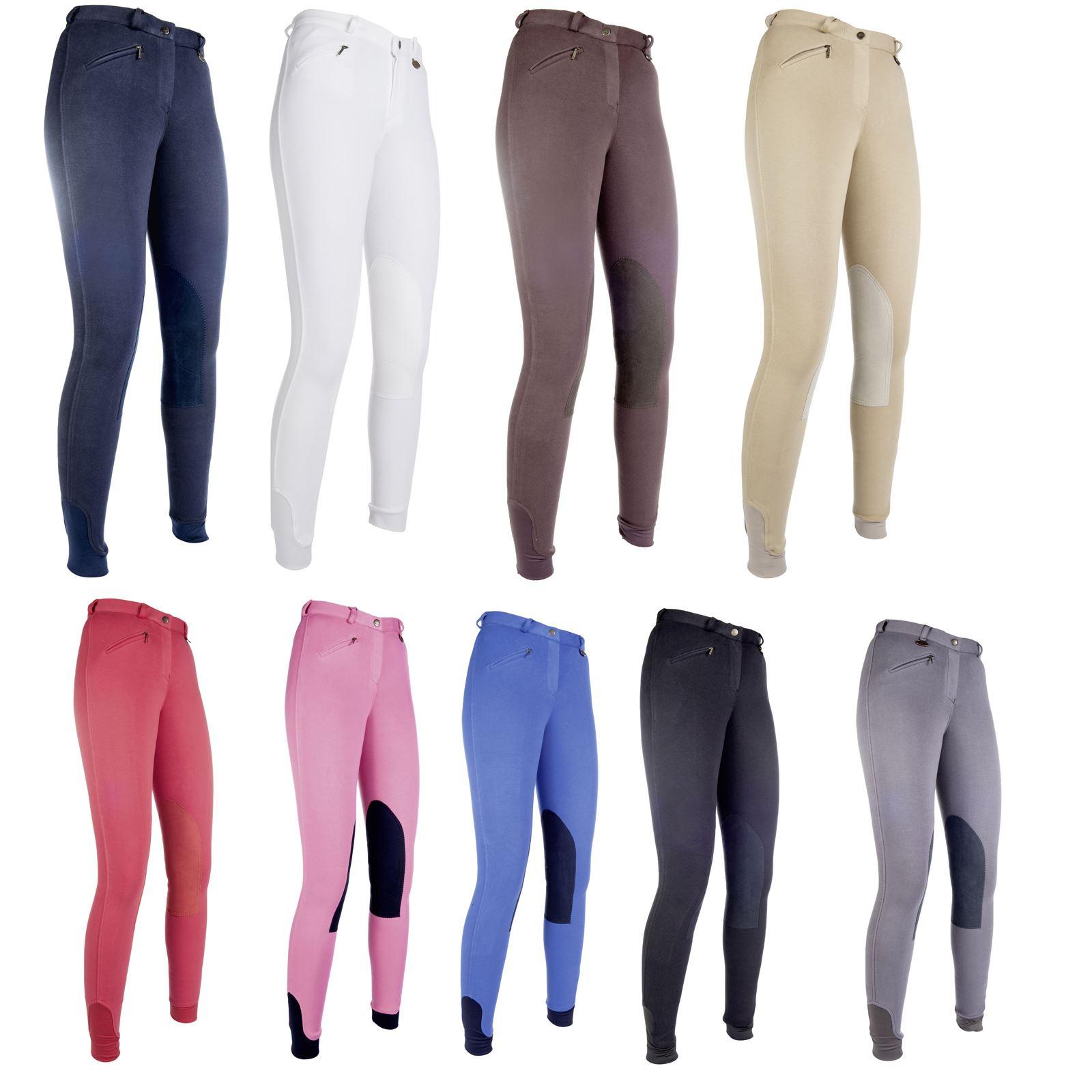 HKM Pantaloni da Equitazione di Penny Easy-Toppe sulle Ginocchia Pantaloni