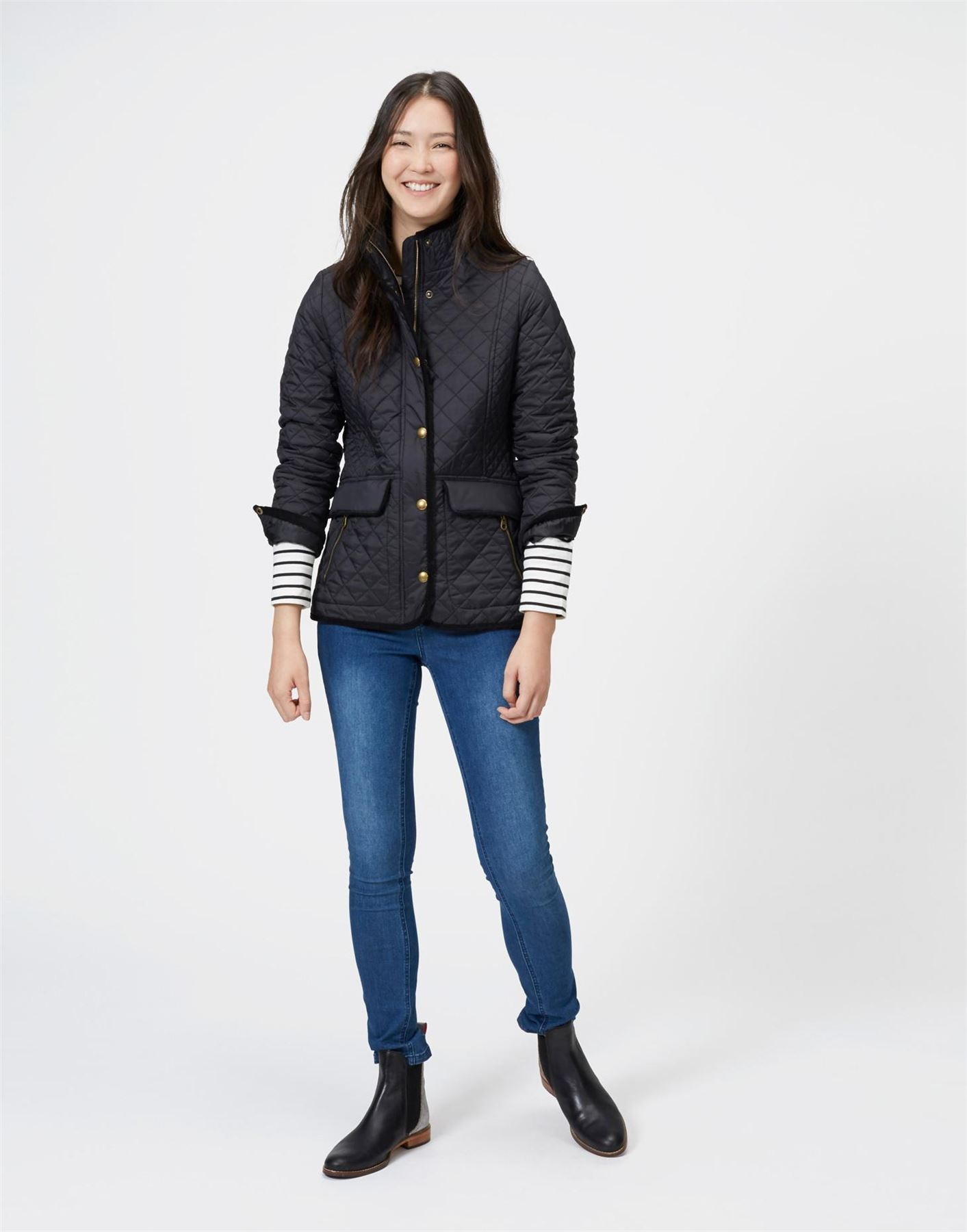 23718e5ae8b7 Joules Newdale Quilted Jacket Ladies Classic Fit Equestrian Warm ...