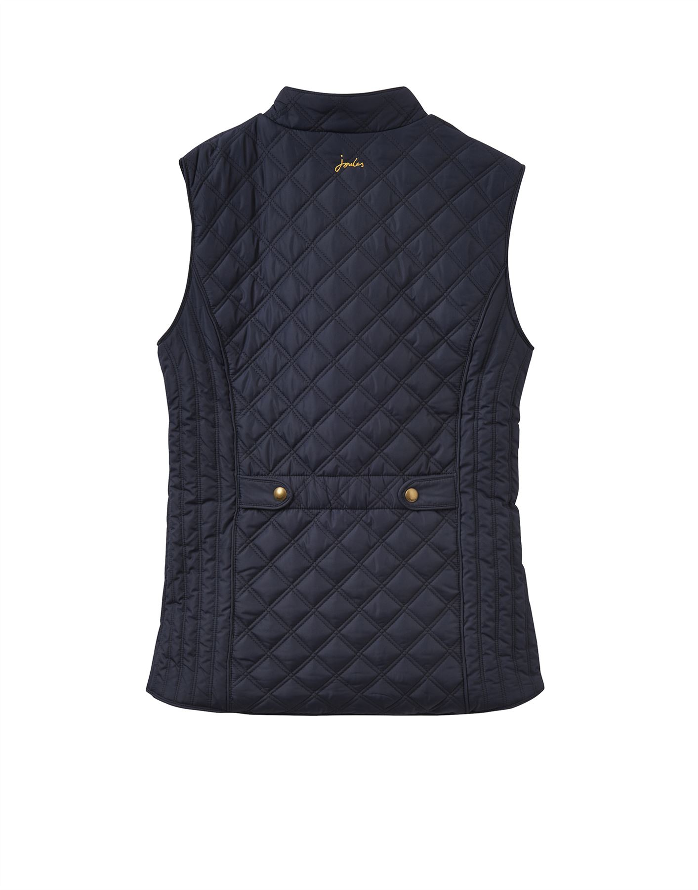 Joules Womens Minx Quilted Gilet Jacket in DEEP FUCHSIA