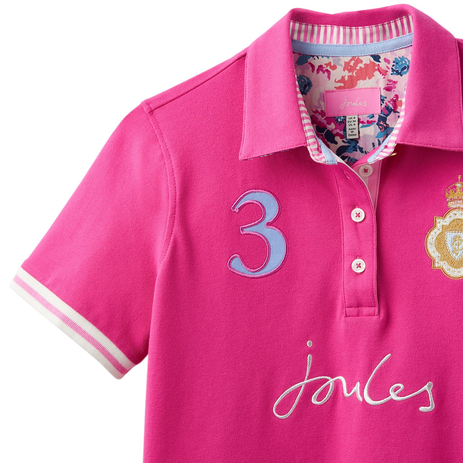 Joules Claredon Ladies Horse Riding Pique Short Sleeve Heritage Polo Shirt