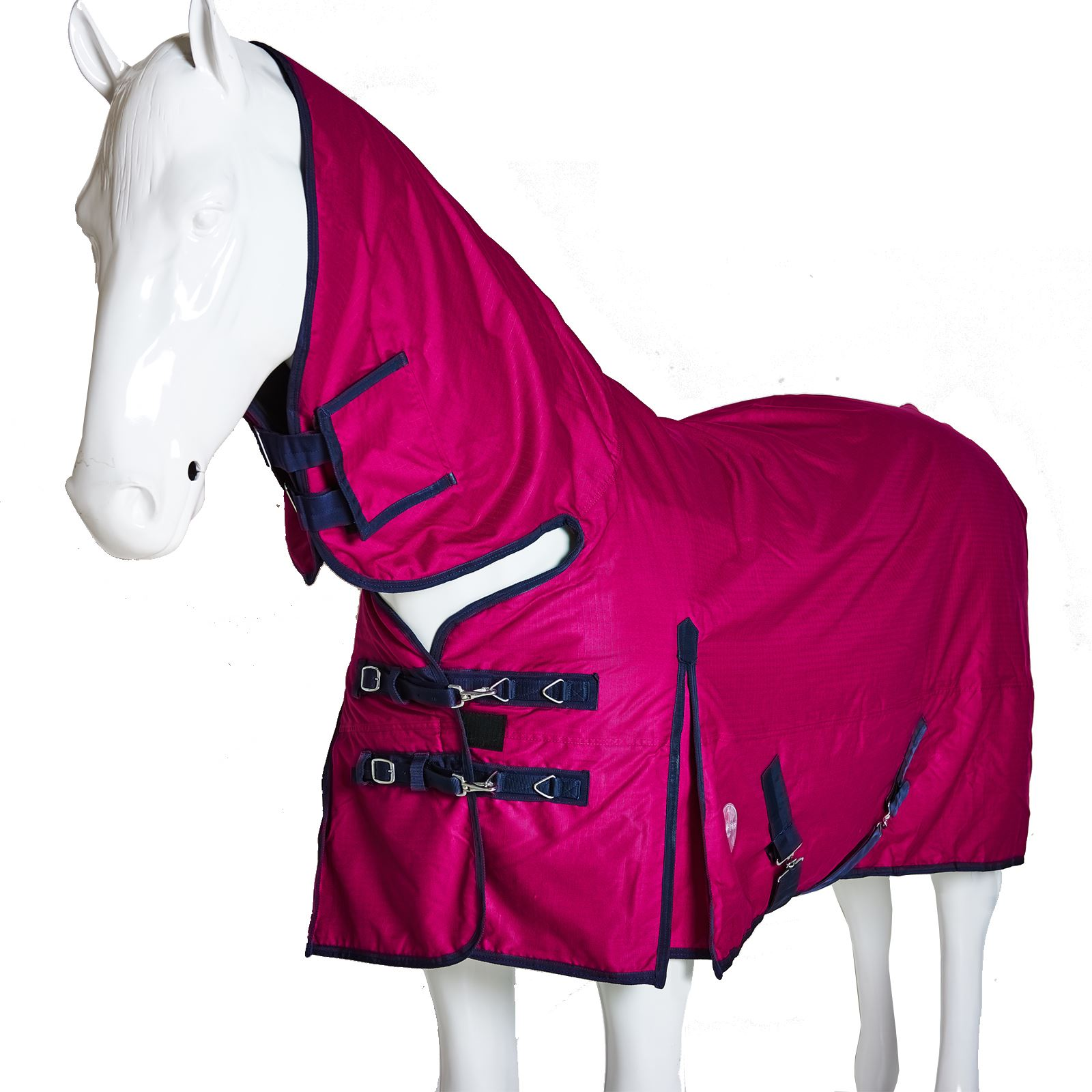 63, Red CHONMA 600D 200G Winter Waterproof Ripstop Breathable Fixed Neck Turnout Horse Rug Combo