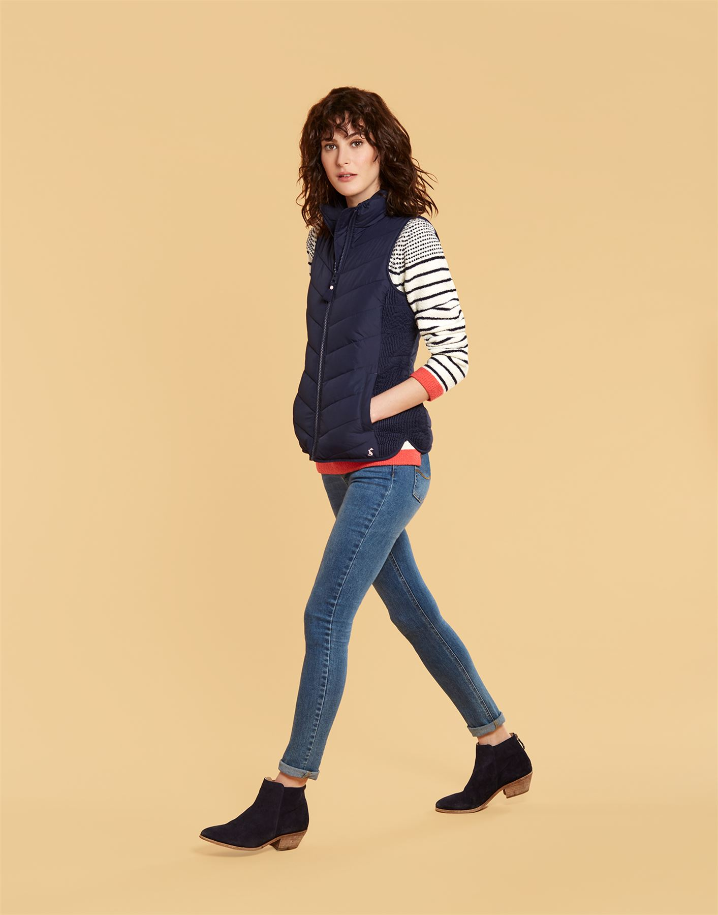Y Joules Highgrove Gilet Fran Rembourrᄄᆭ Country aise Ladies Randonnᄄᆭe Marine Equestre Equestre wvmN08n