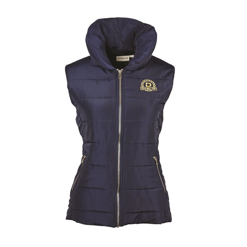 Dublin 'Alice' Ladies Gilet Vest Quilted Padded Outdoor Winter ... : quilted riding vest - Adamdwight.com