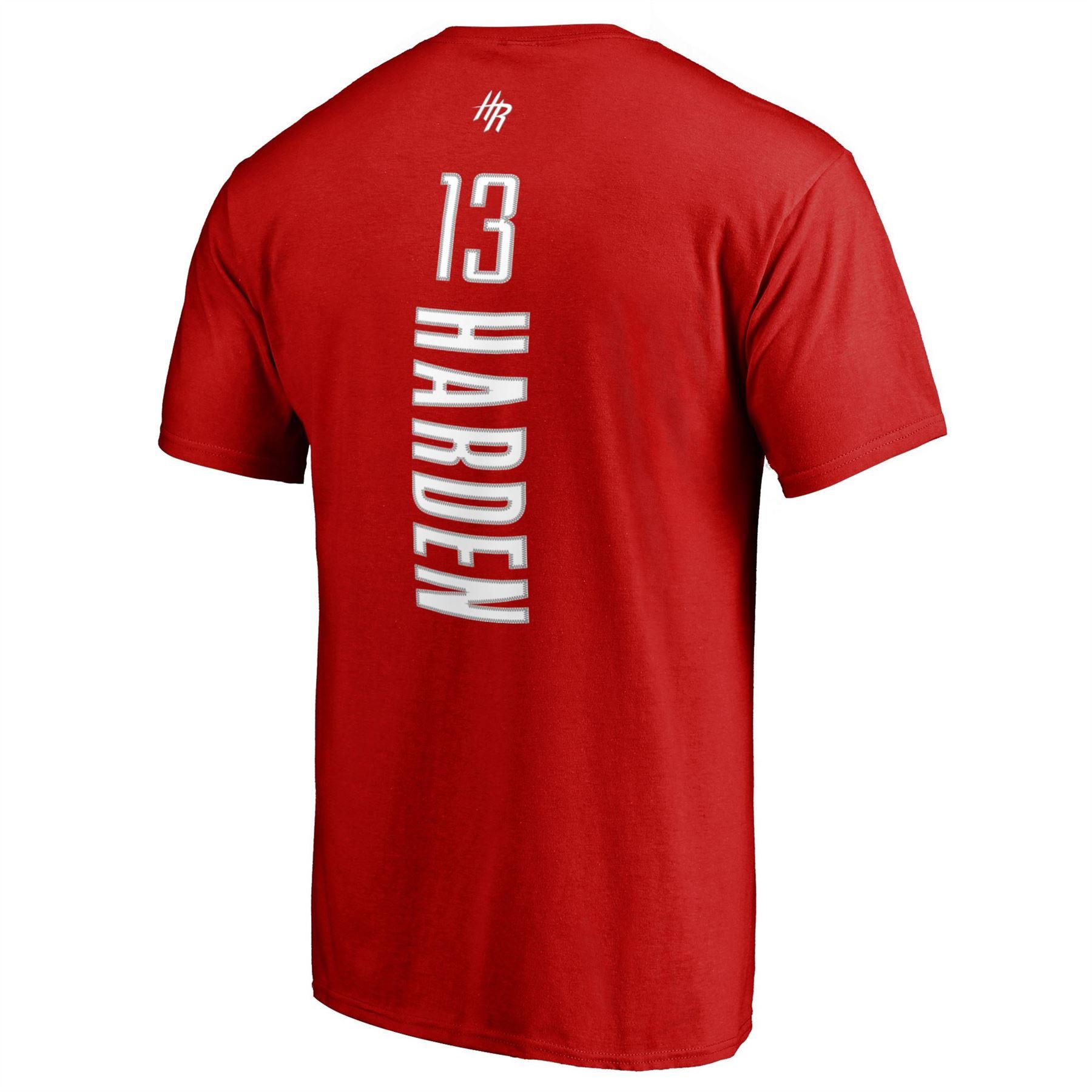c54ae7428c46 James Harden Houston Rockets  13 T-Shirt Backer Name   Number NBA